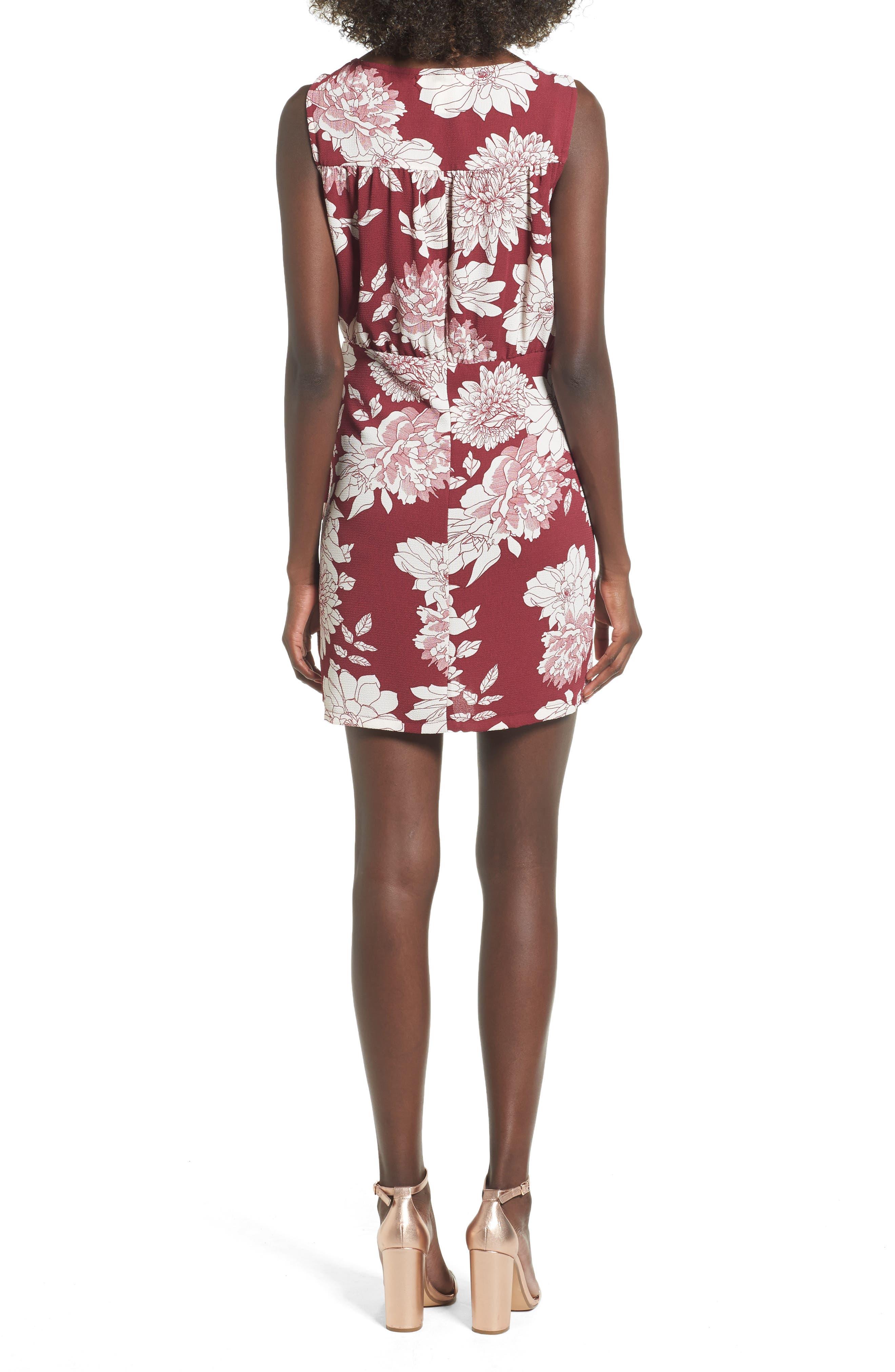 Alternate Image 2  - Mimi Chica Wrap Skirt Dress