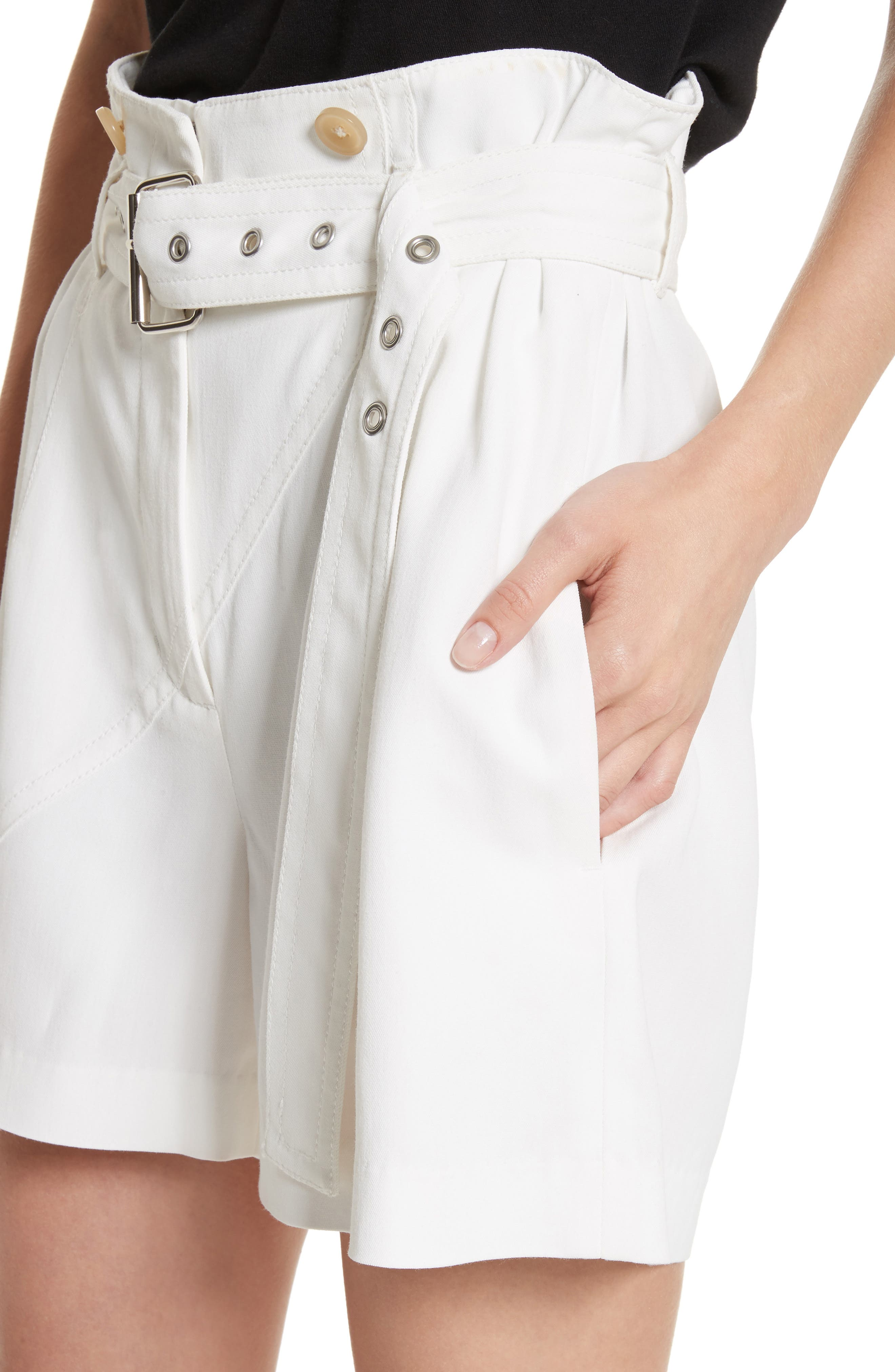 Belted Utility Shorts,                             Alternate thumbnail 4, color,                             Ivory