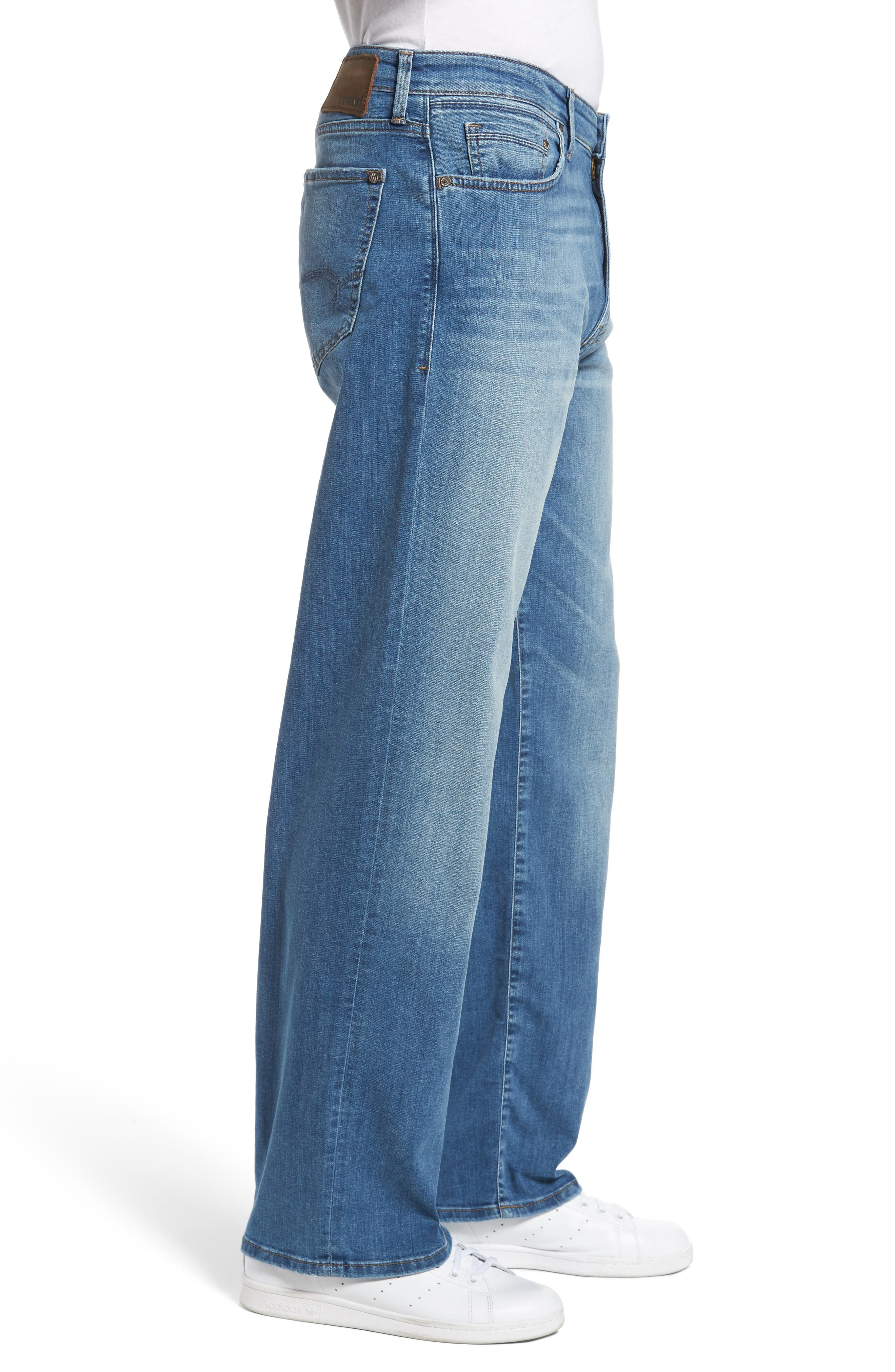 Max Relaxed Fit Jeans,                             Alternate thumbnail 3, color,                             Mid Indigo Williamsburg