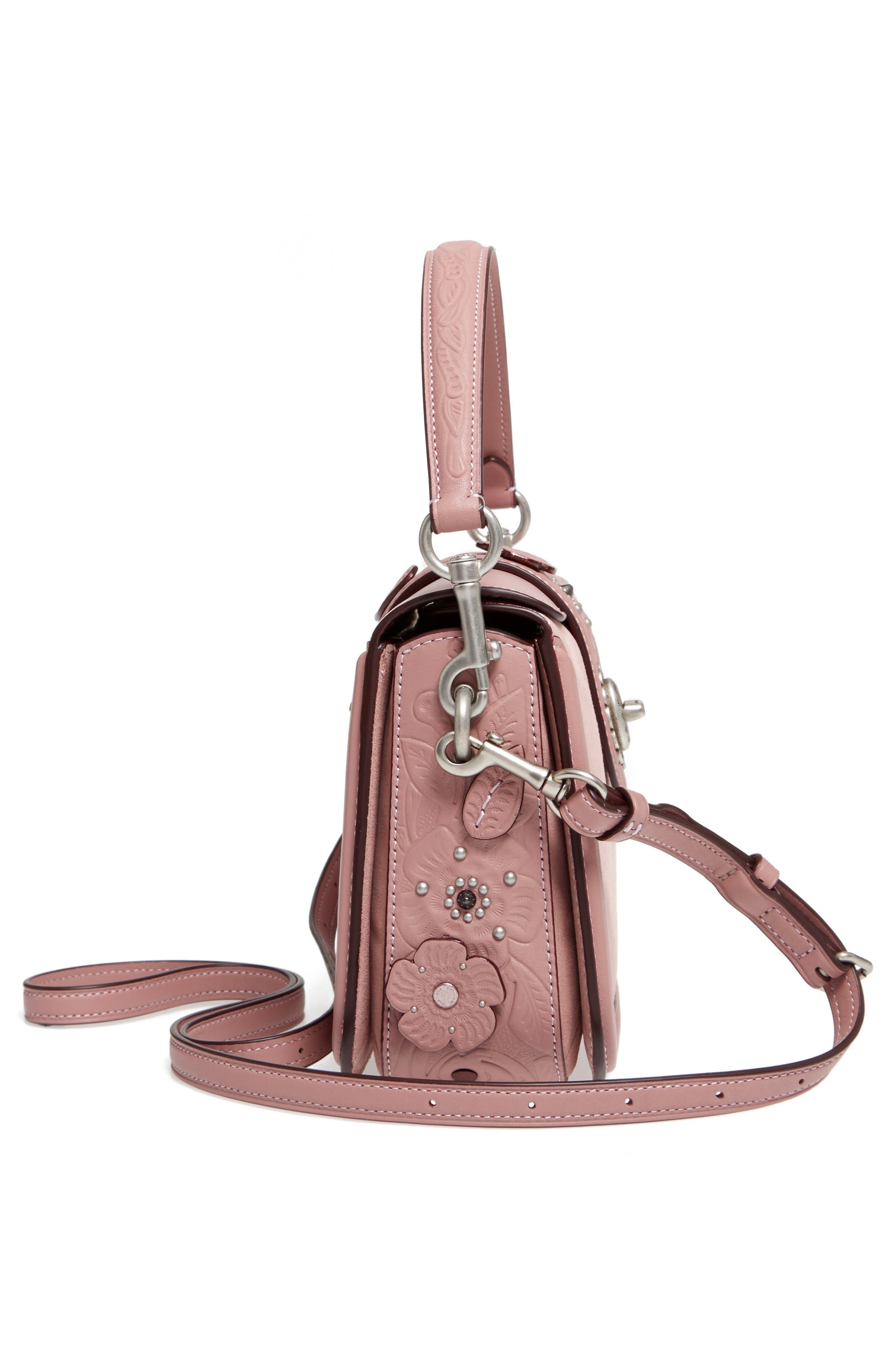 Alternate Image 5  - COACH Page Tea Rose Calfskin Leather Top Handle Satchel