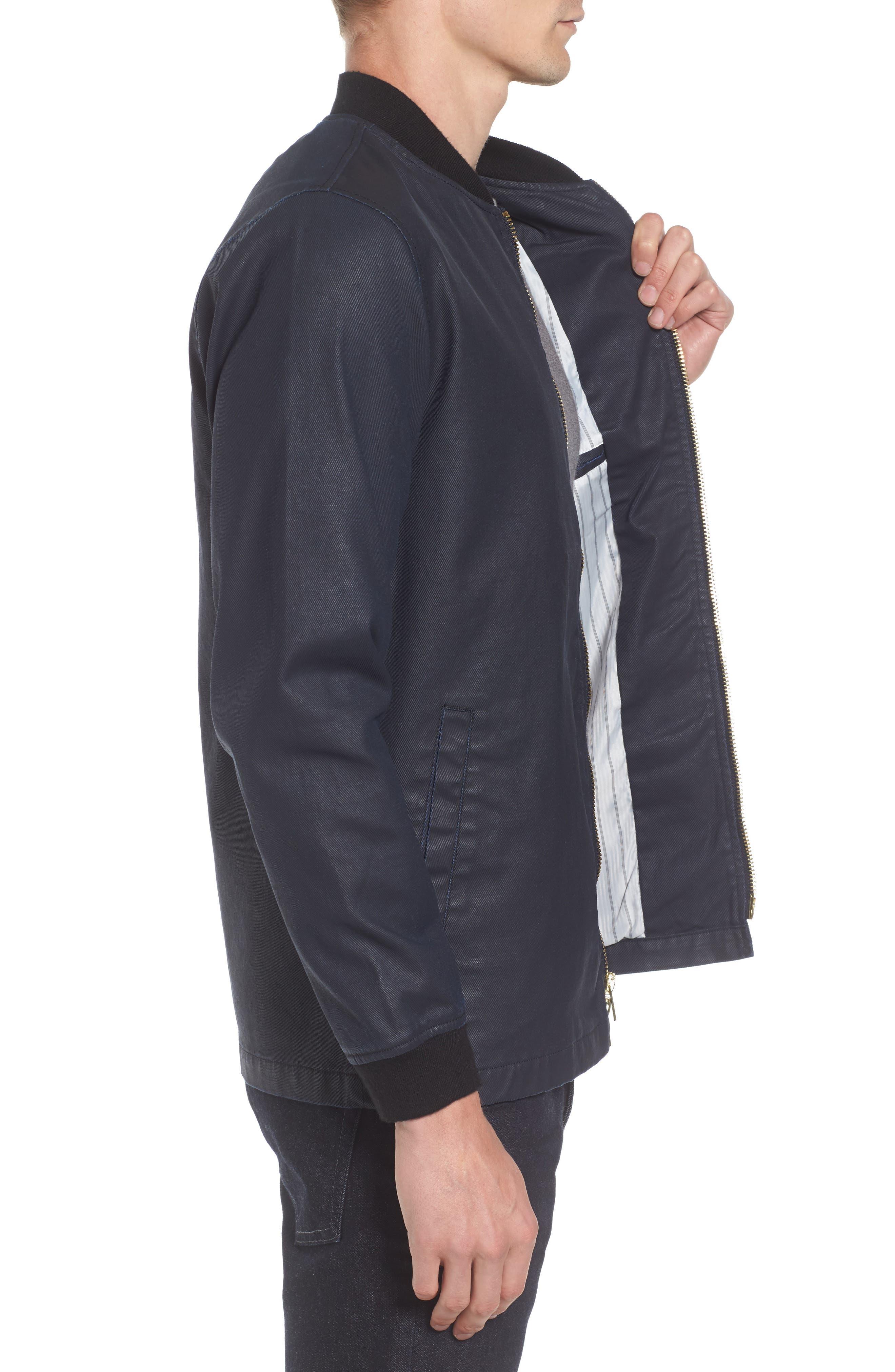 Alternate Image 3  - Tunellus Coated Zip Front Jacket
