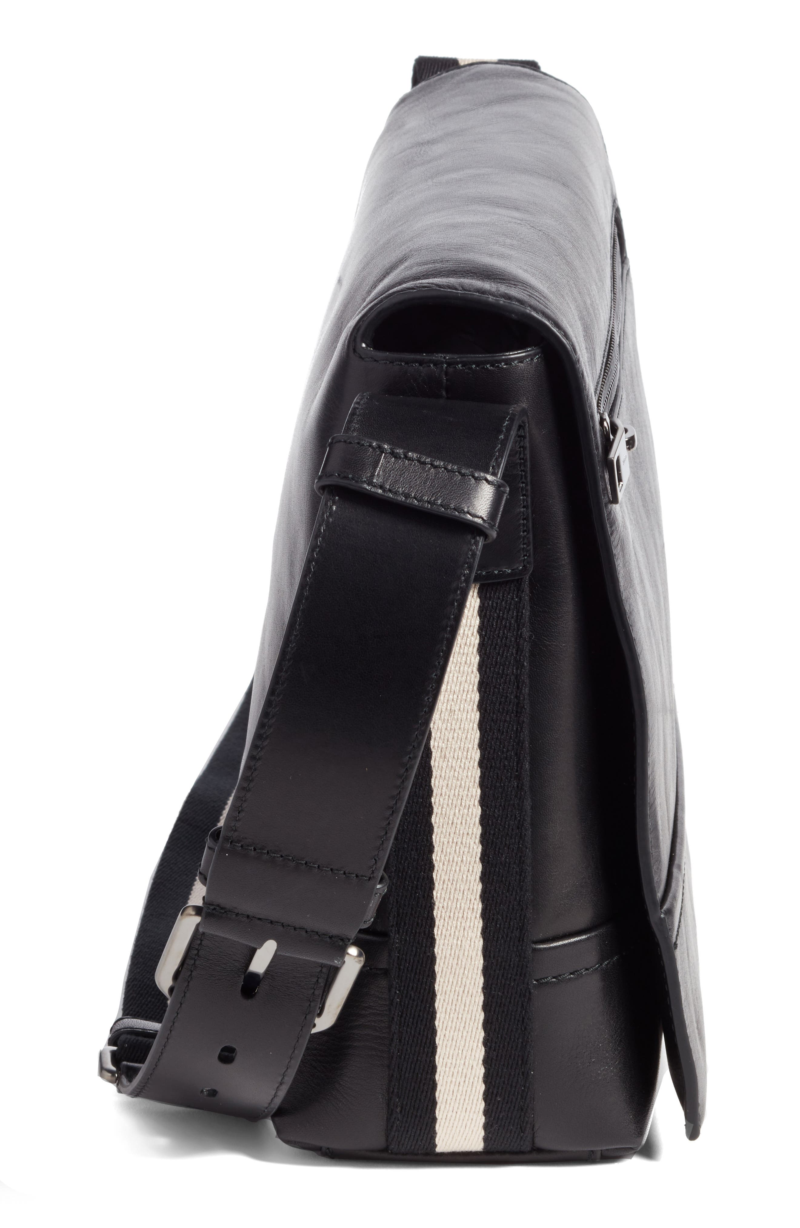 Alternate Image 5  - Bally Tamrac Leather Messenger Bag