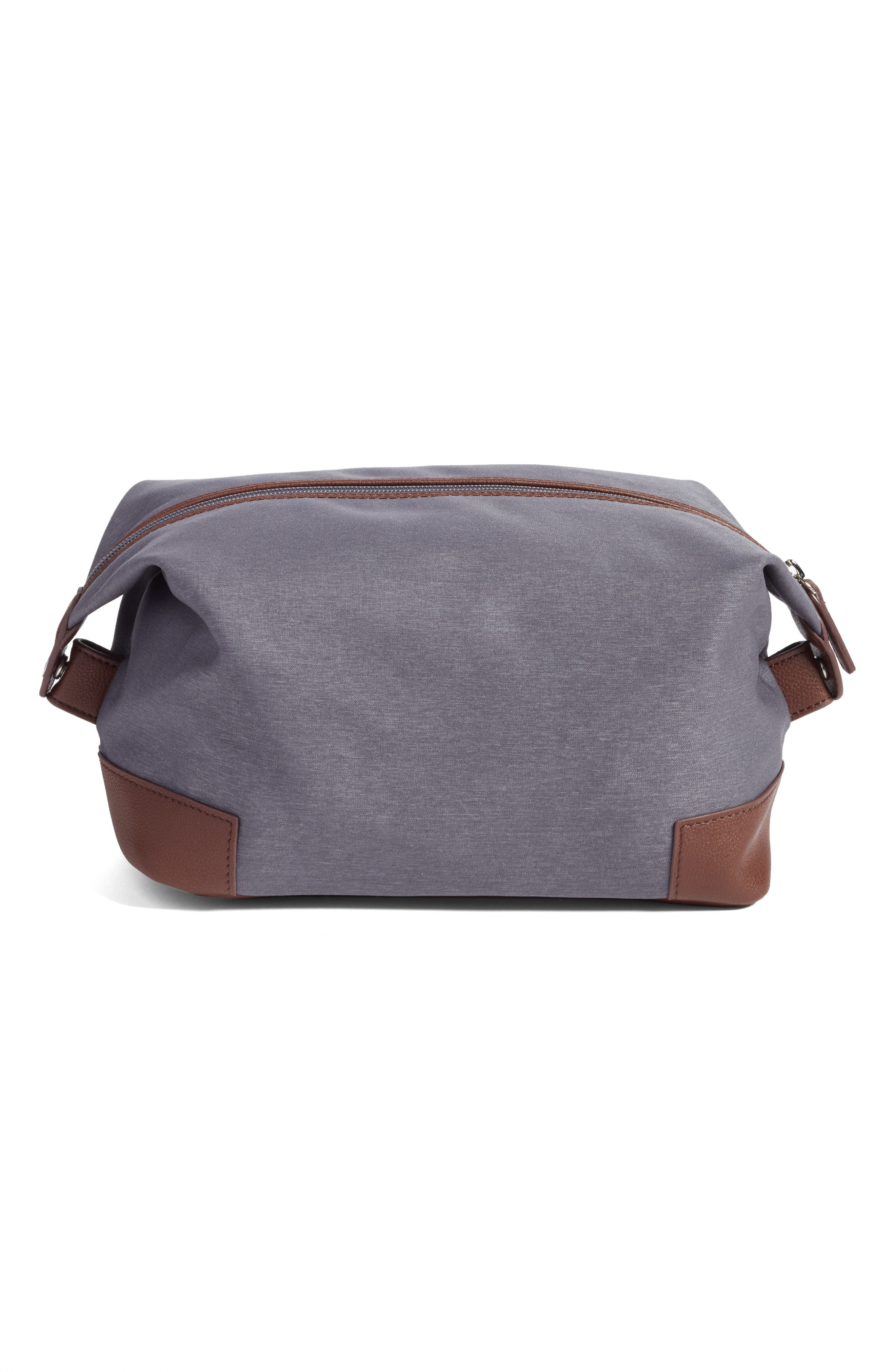 Heathered Twill Dopp Kit,                             Alternate thumbnail 2, color,                             Charcoal