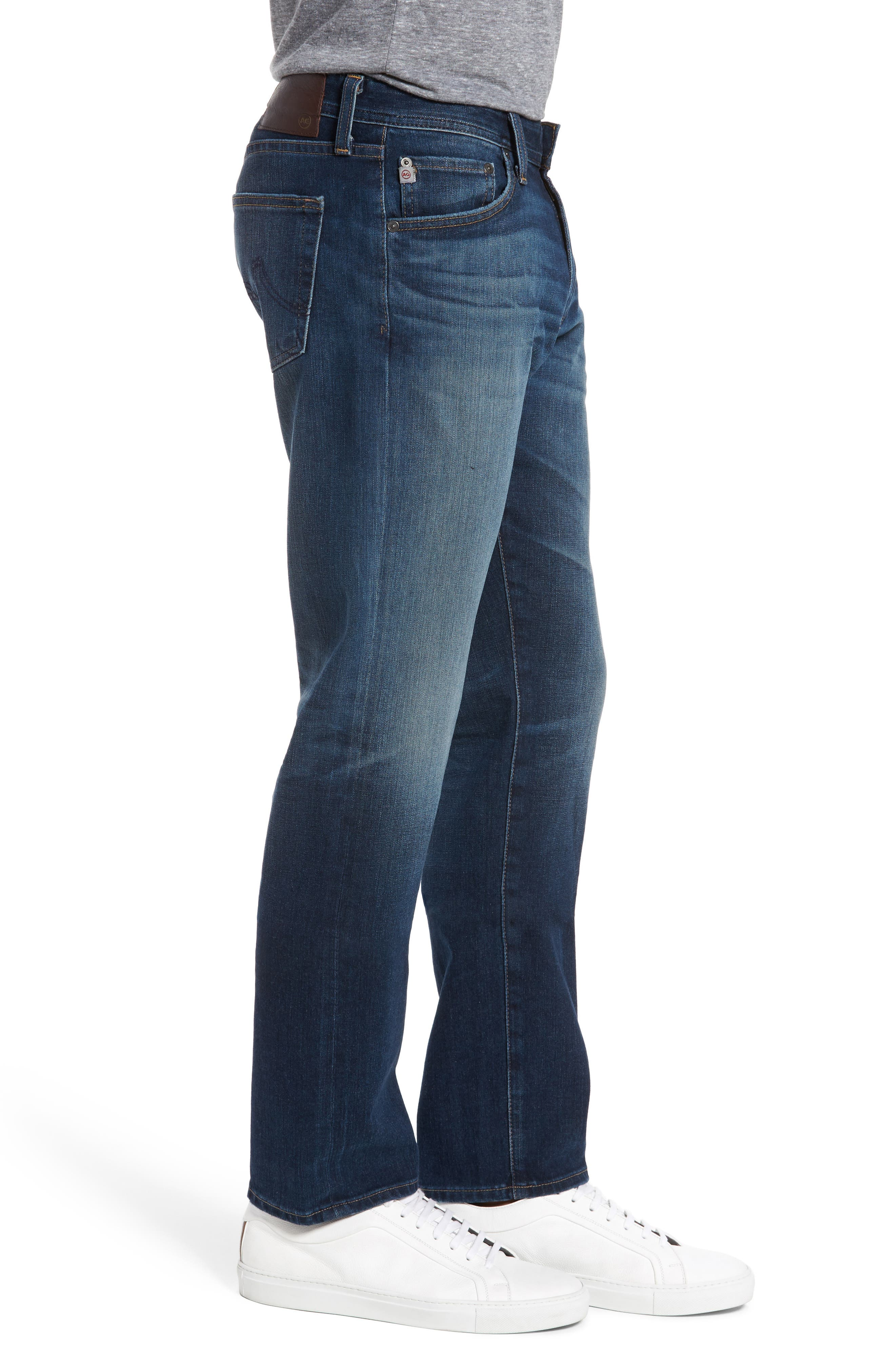 Graduate Slim Straight Fit Jeans,                             Alternate thumbnail 3, color,                             10 Years Shortcut