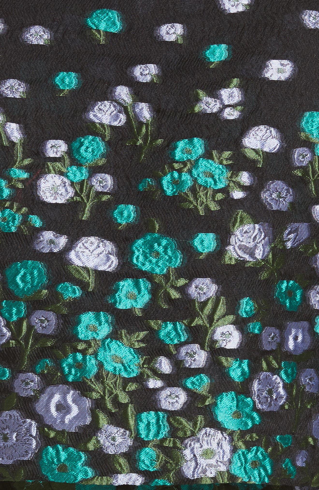 Alternate Image 5  - Lela Rose Floral Matelassé Crop Jacket