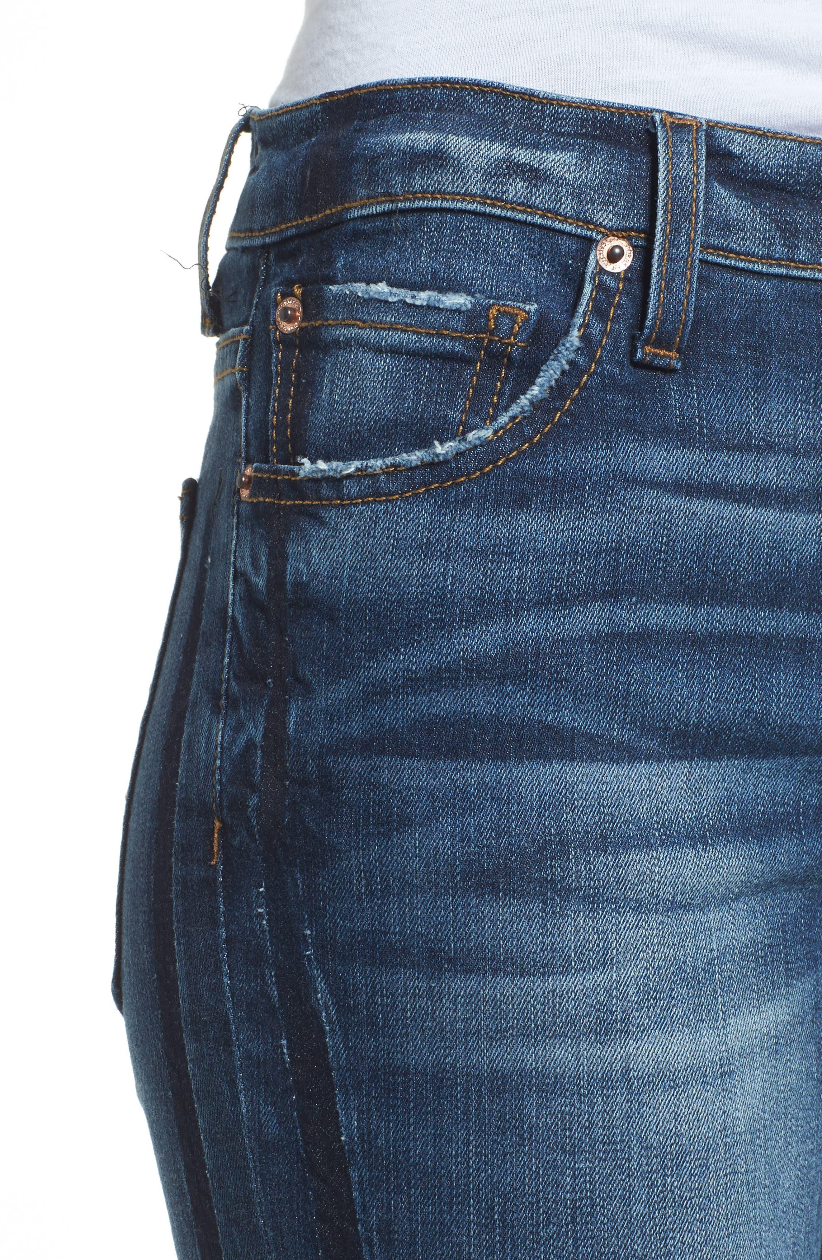 Alternate Image 4  - Band of Gypsies Lola Ripped Skinny Jeans (Carlsbad Fest East)