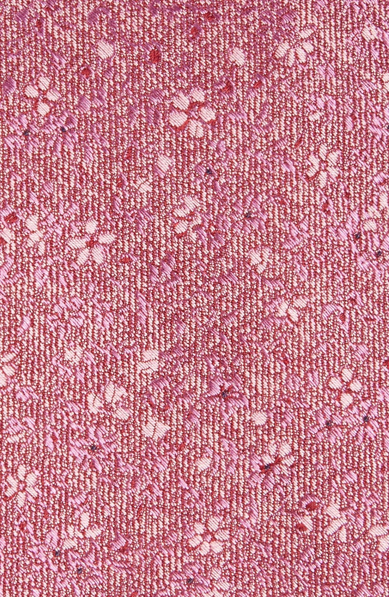 Alternate Image 2  - Calibrate Lindsay Floral Print Silk & Cotton Tie