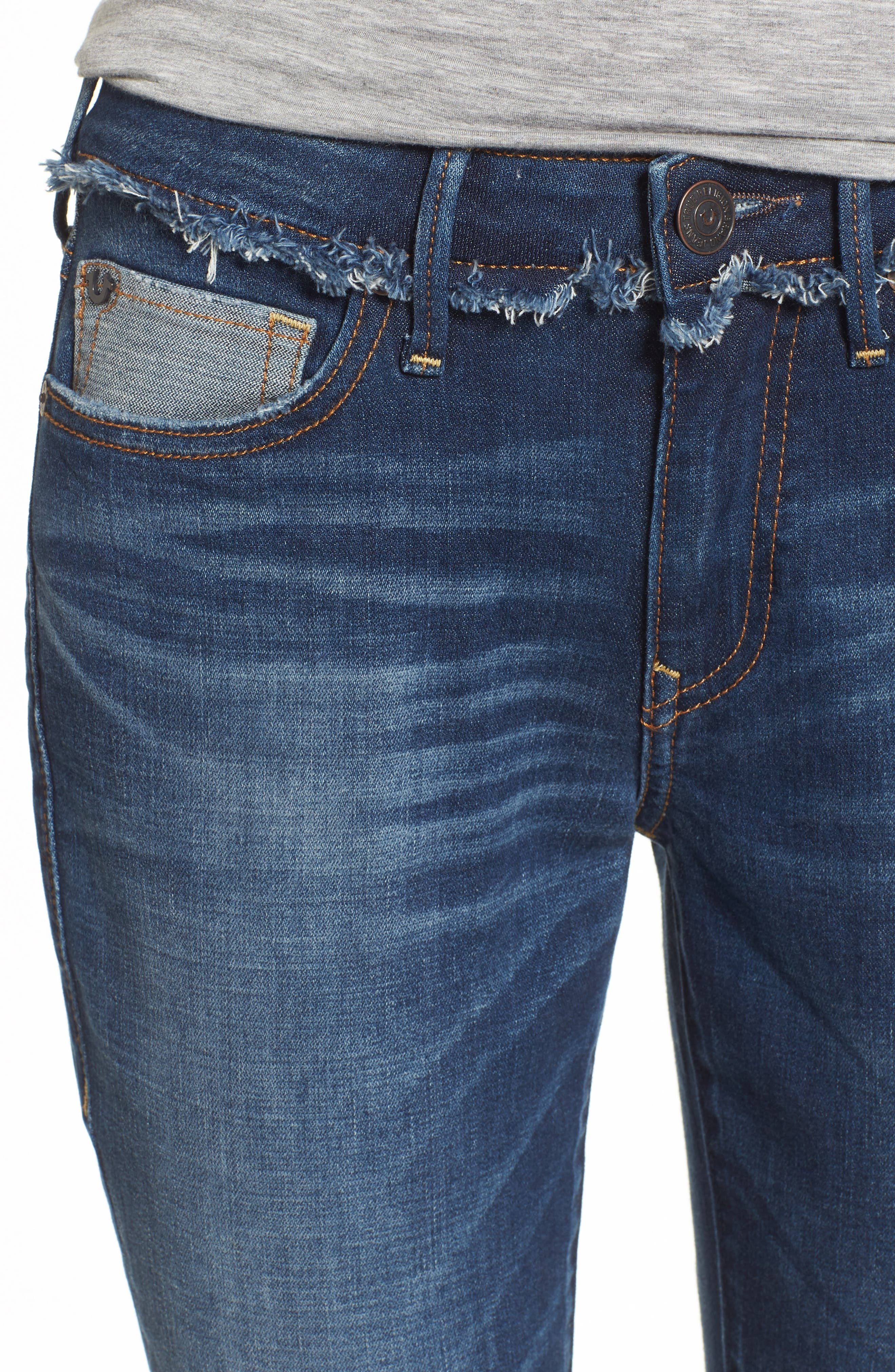 Alternate Image 4  - True Religion Brand Jeans Jennie Deconstructed Skinny Jeans (Broken Record)