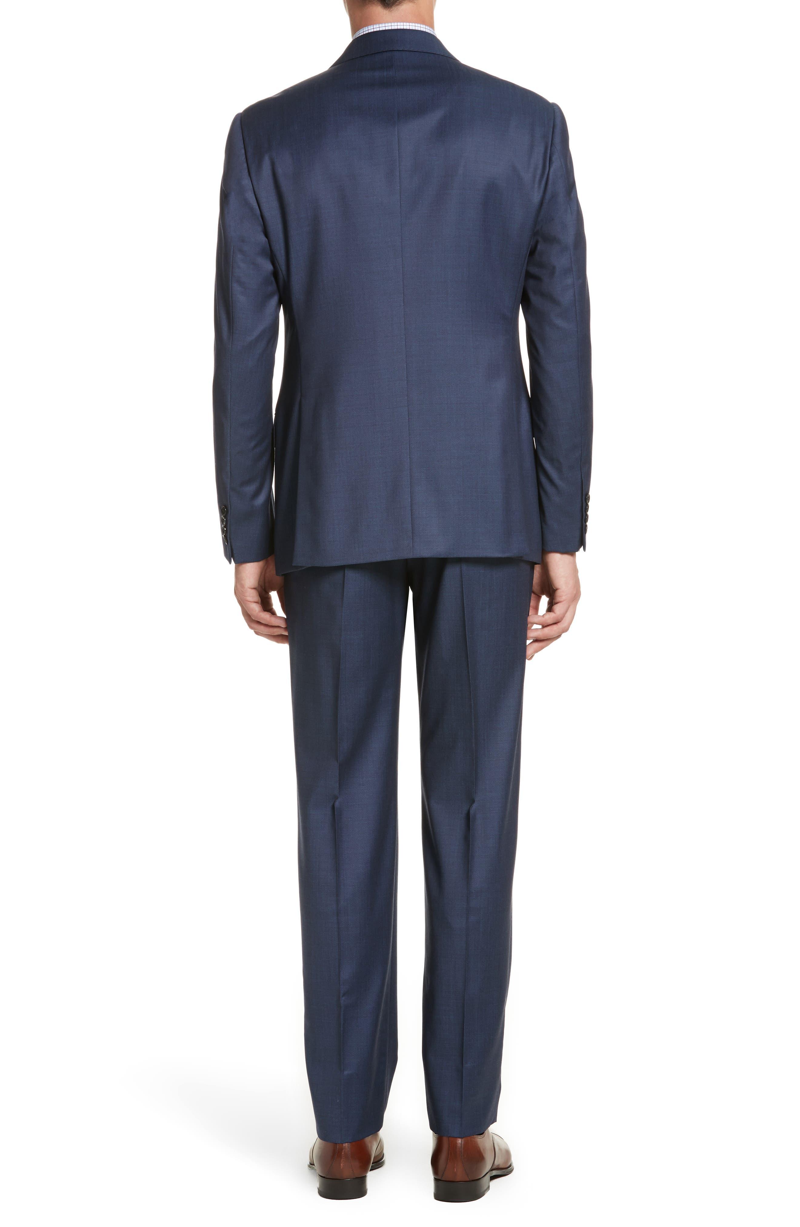 Alternate Image 2  - Armani Collezioni G-Line Trim Fit Plaid Wool Suit