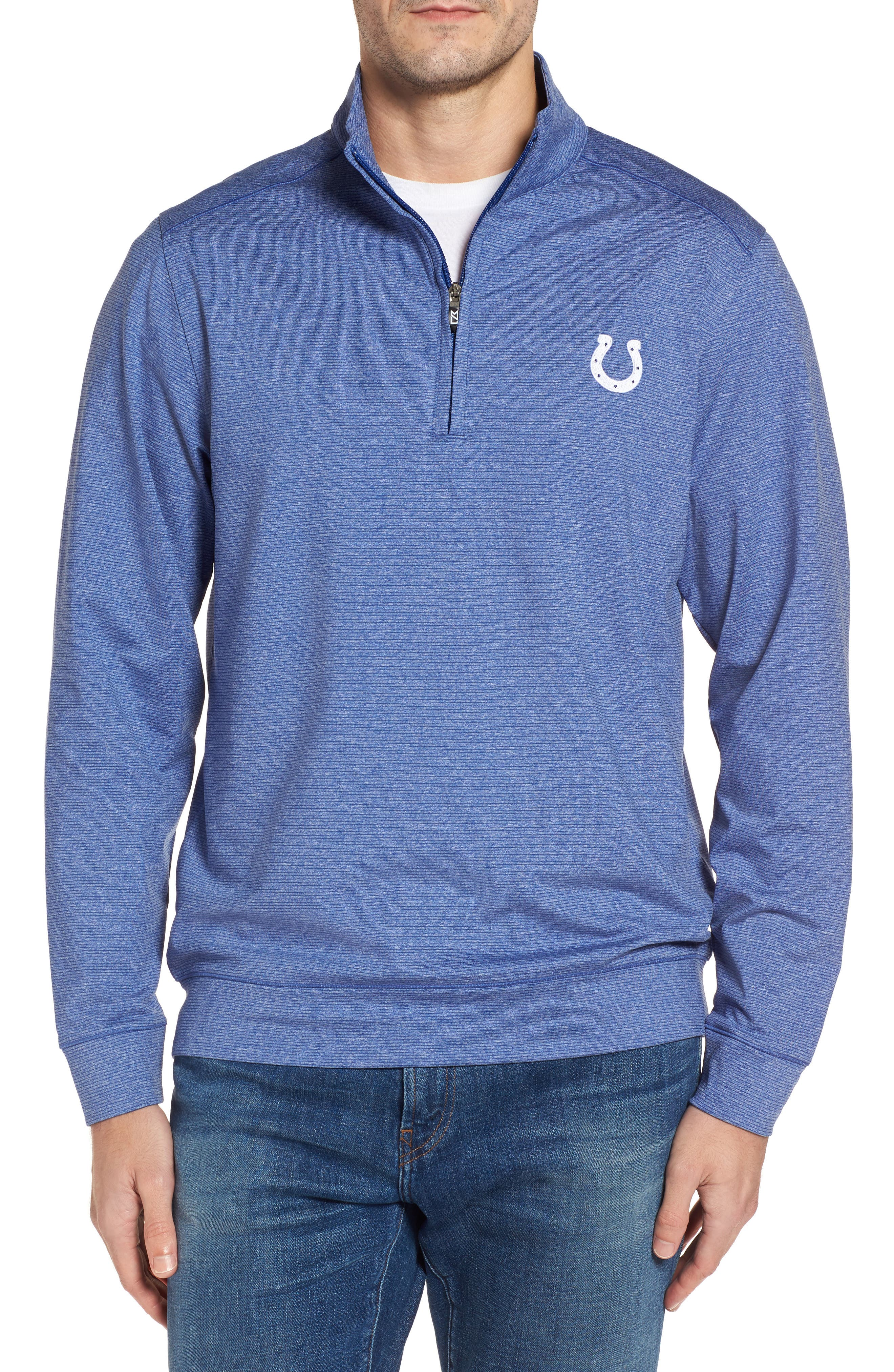 Shoreline - Indianapolis Colts Half Zip Pullover,                         Main,                         color, Tour Blue Heather