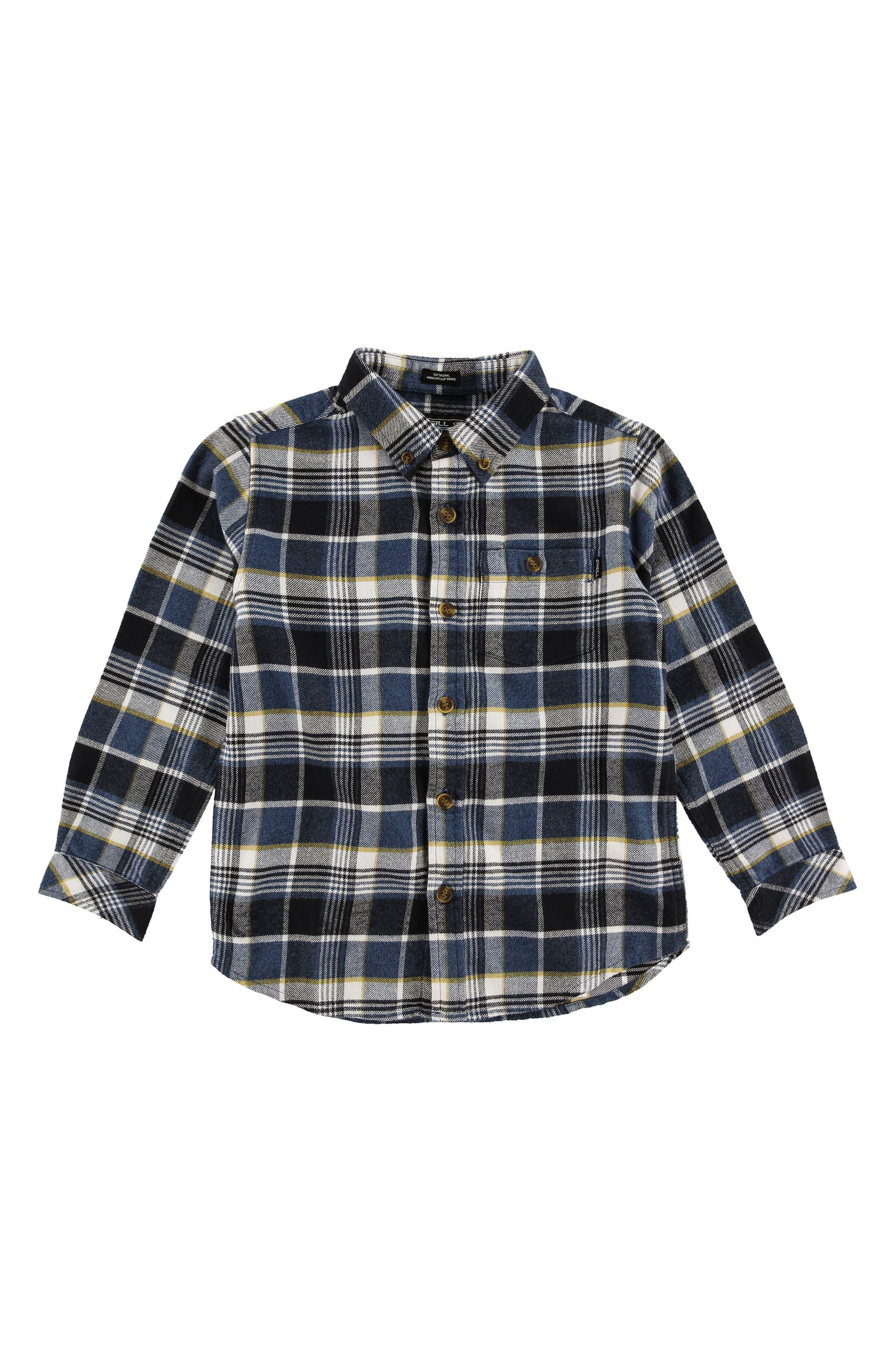 Redmond Flannel Shirt,                         Main,                         color, Navy