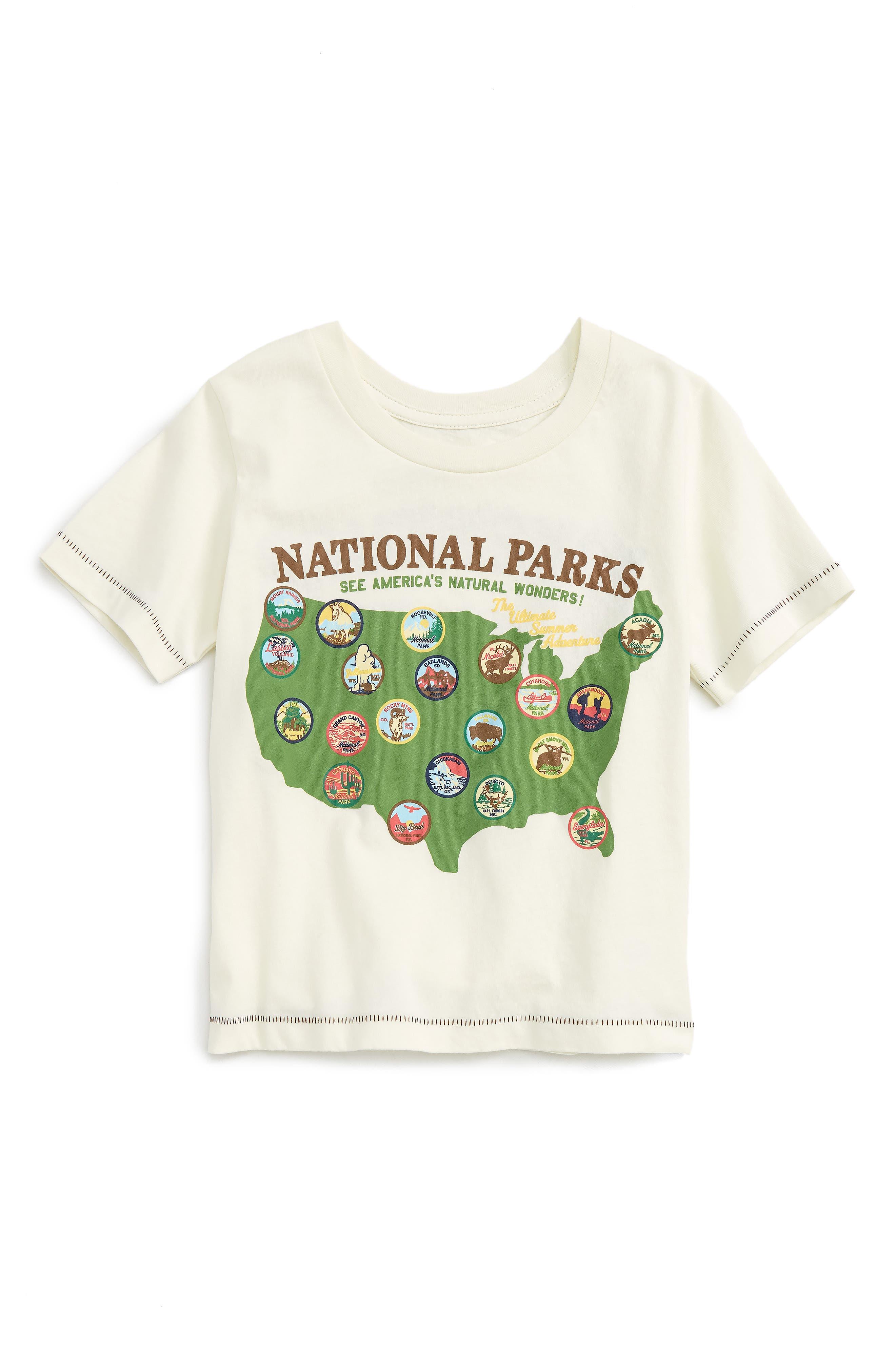 Peek National Parks T-Shirt (Toddler Kids, Little Kids & Big Kids)