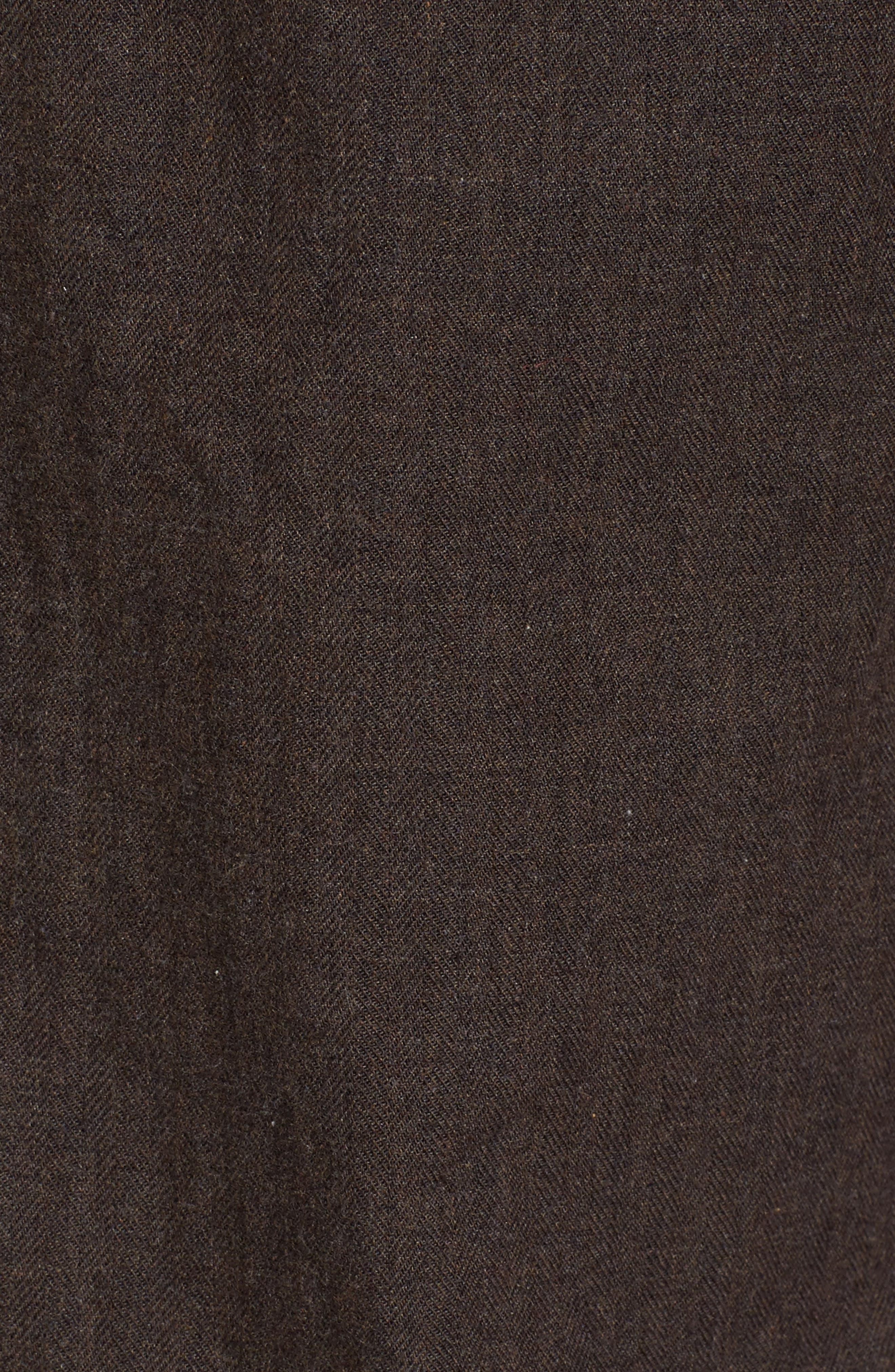 John T Standard Fit Herringbone Shirt,                             Alternate thumbnail 5, color,                             Brown