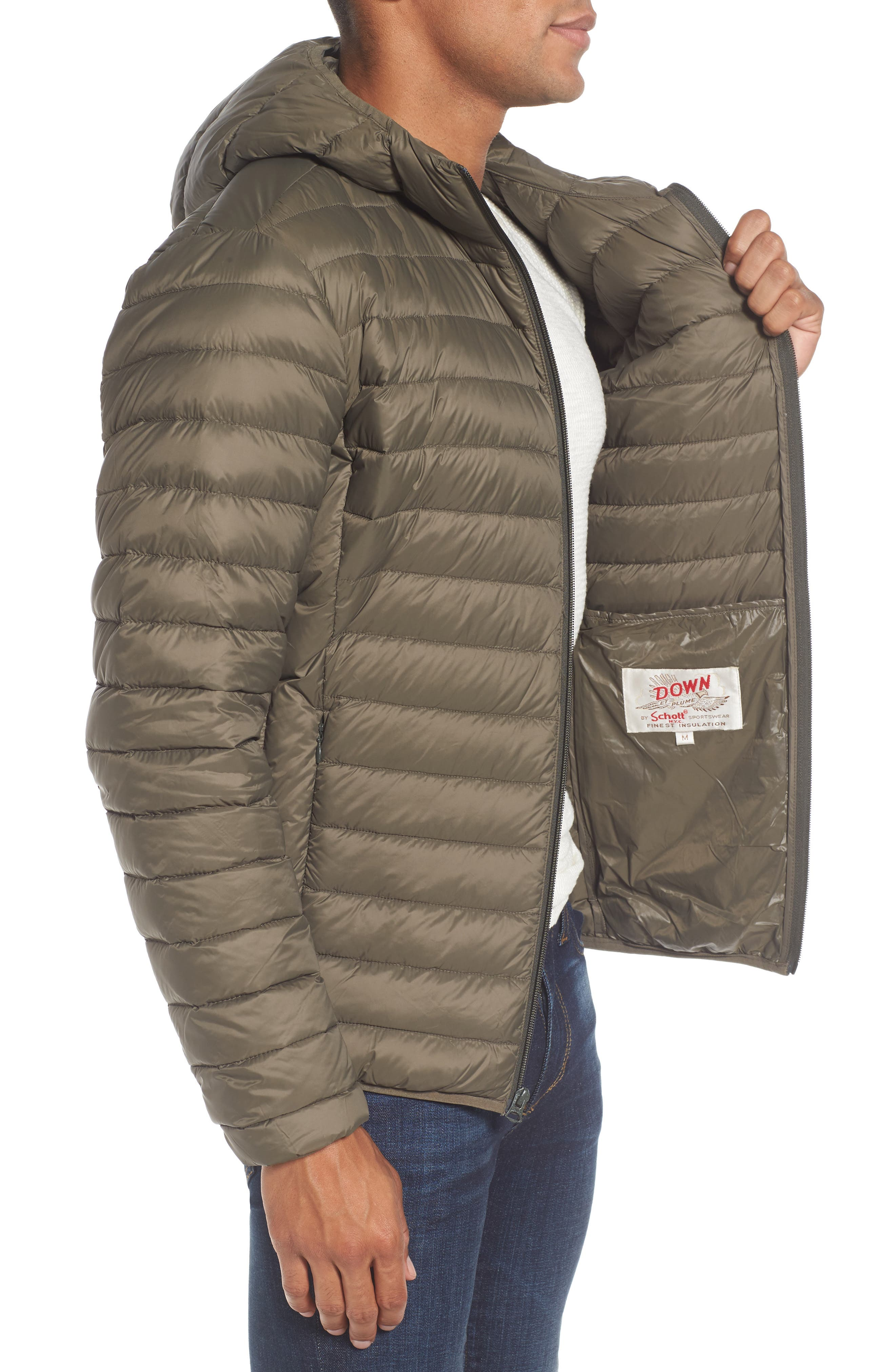 Alternate Image 3  - Schott NYC Zip Front Down Jacket