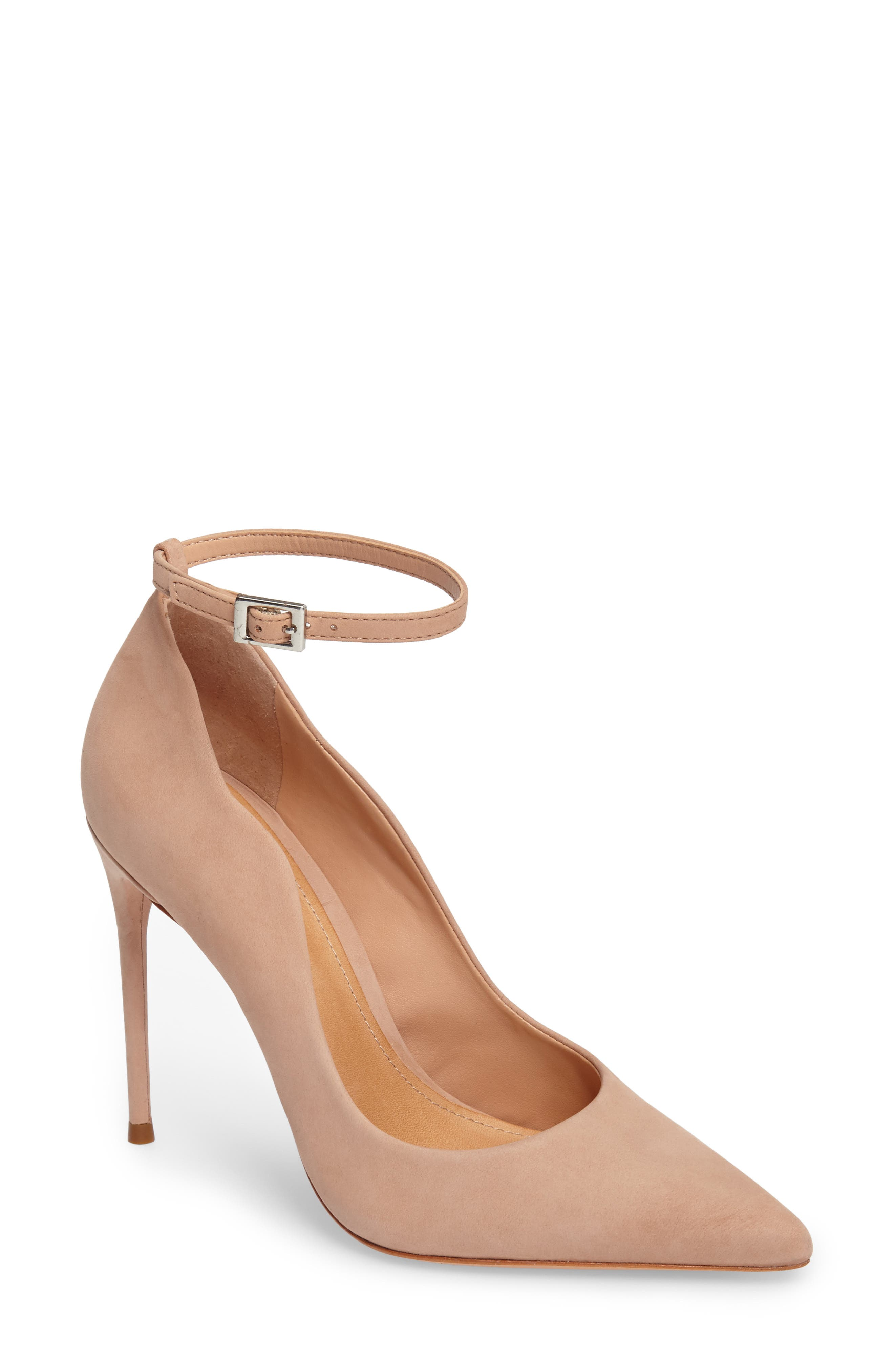 Schutz Women's Thaynara Leather Ankle Strap Pointed Toe Pumps FUNJXFi