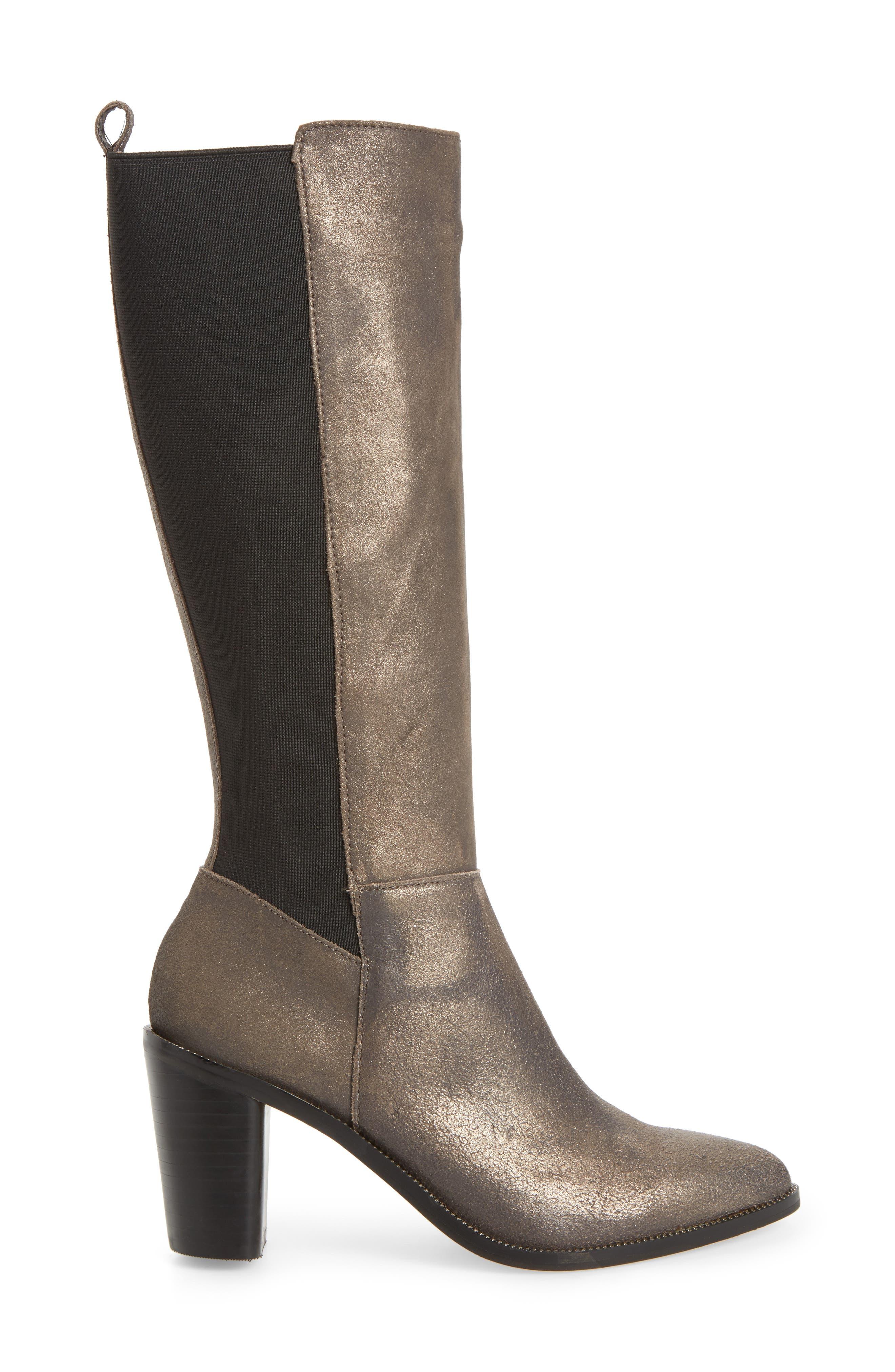 Huey Boot,                             Alternate thumbnail 3, color,                             Gunmetal Leather