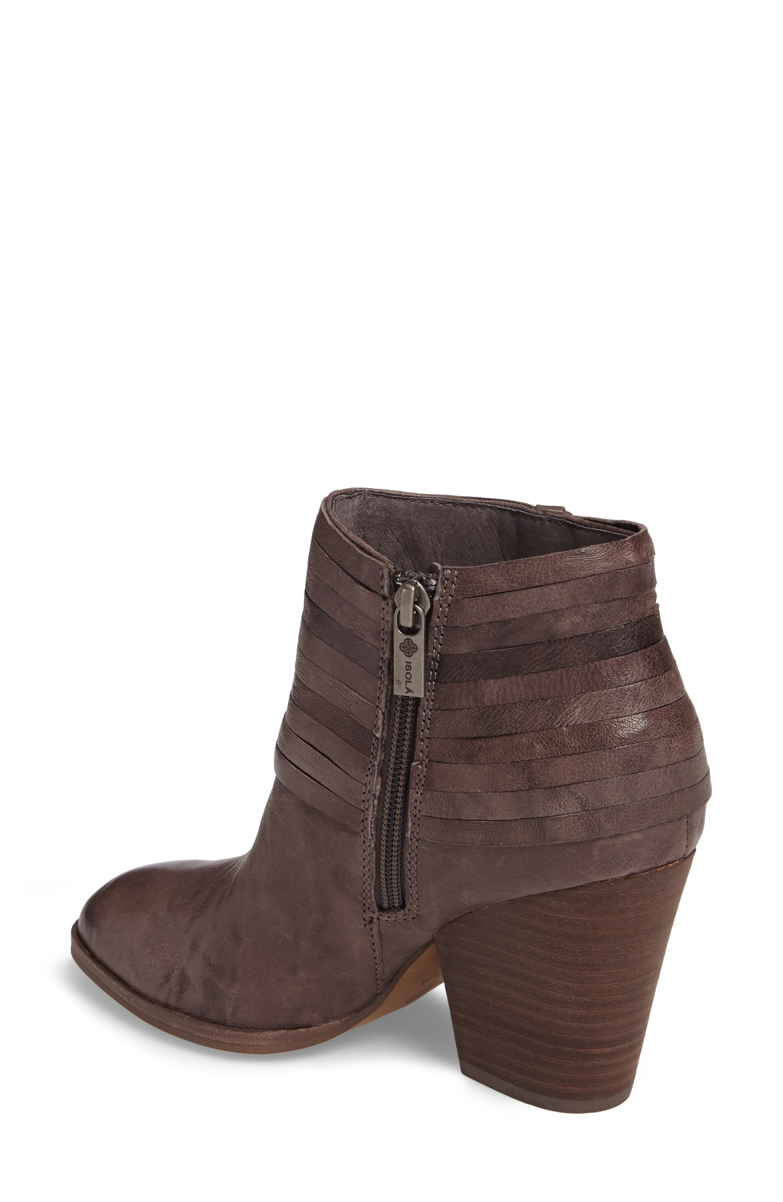 Lander Strappy Bootie,                             Alternate thumbnail 2, color,                             Cemento Grey Leather