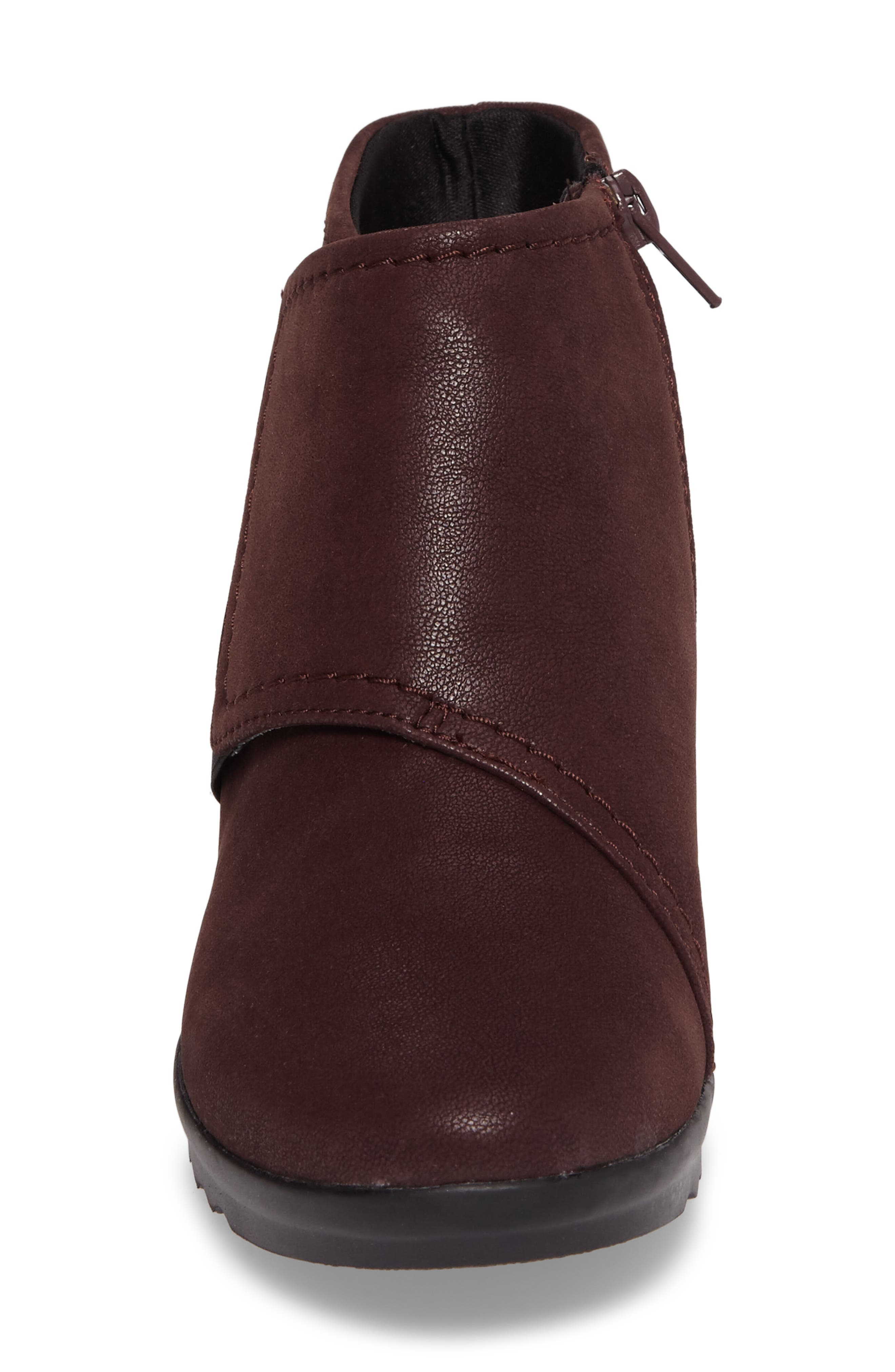 Caddell Rush Bootie,                             Alternate thumbnail 4, color,                             Burgundy Leather