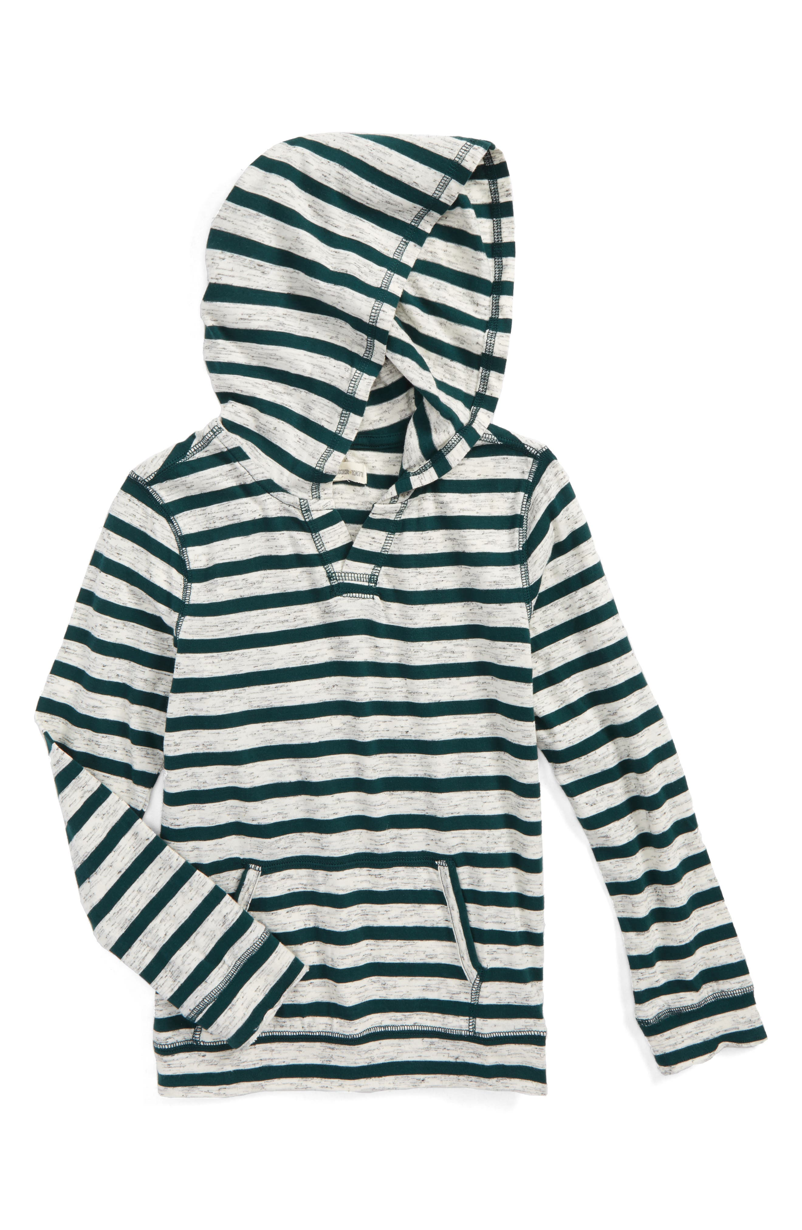 Tucker + Tate Fashion Knit Stripe Hooded T-Shirt (Toddler Boys & Little Boys)