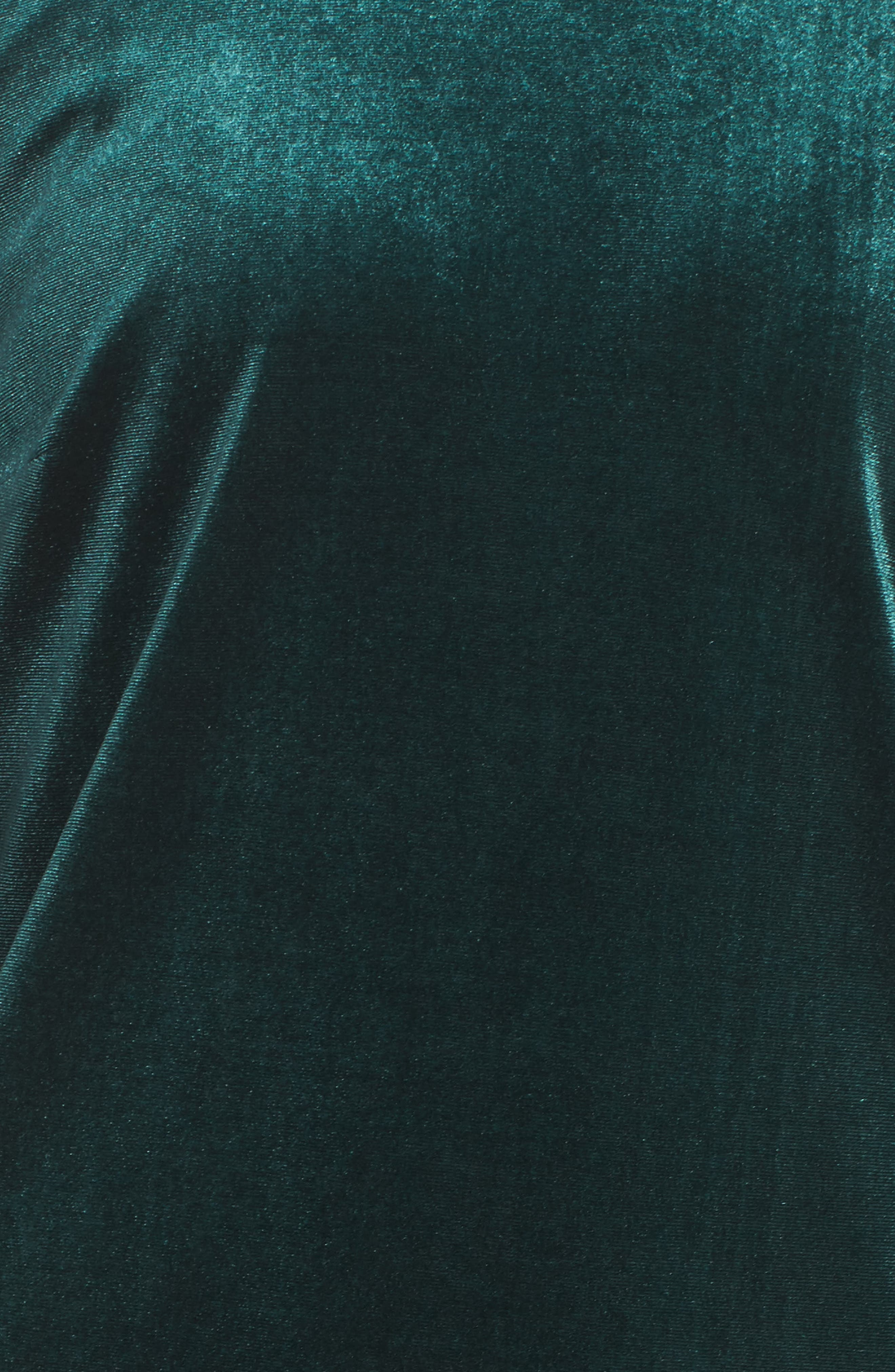 Hallie Bell Sleeve Velvet Dress,                             Alternate thumbnail 5, color,                             Bottle Green