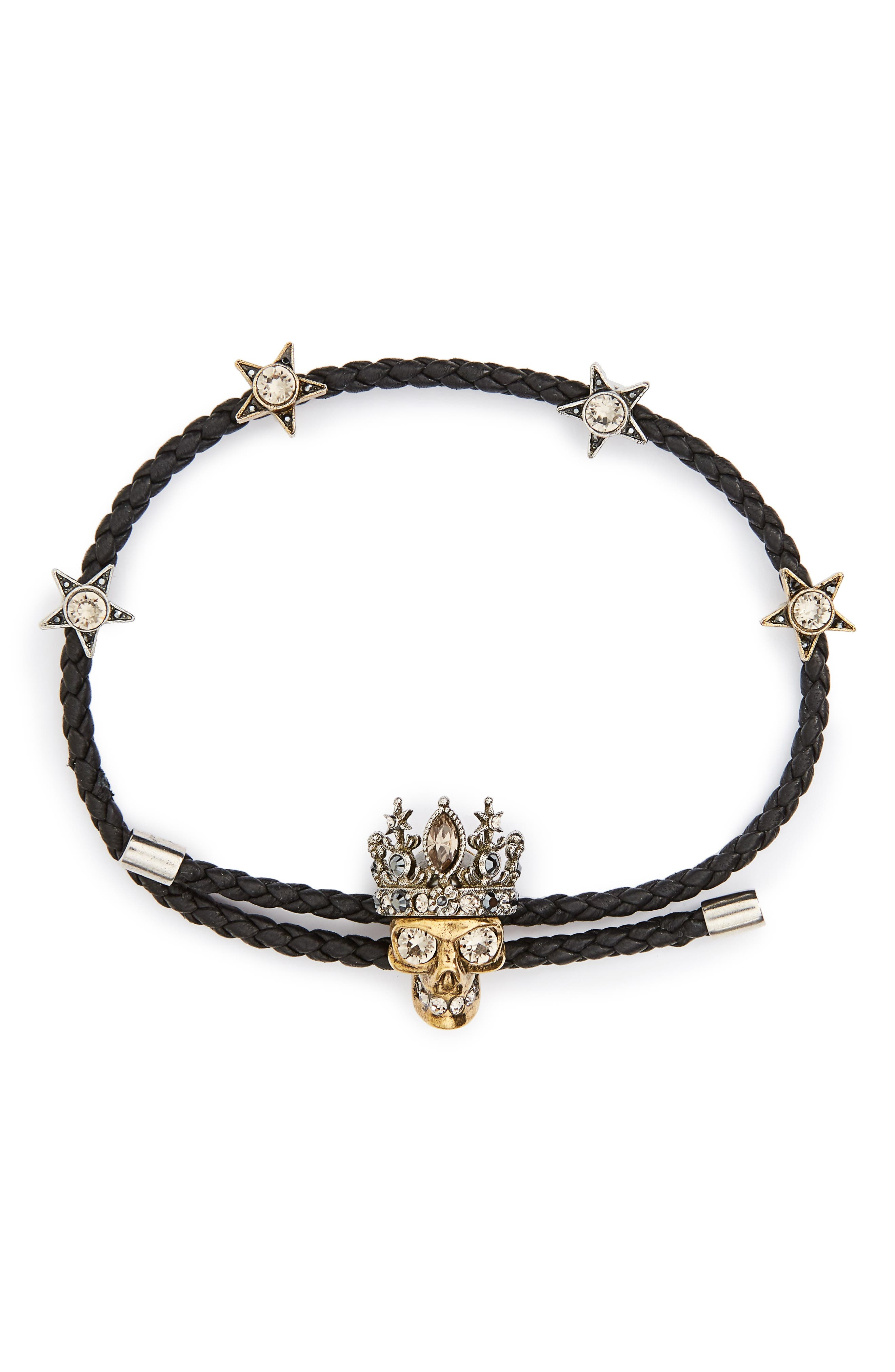 Alexander McQueen Crystal Friendship Bracelet