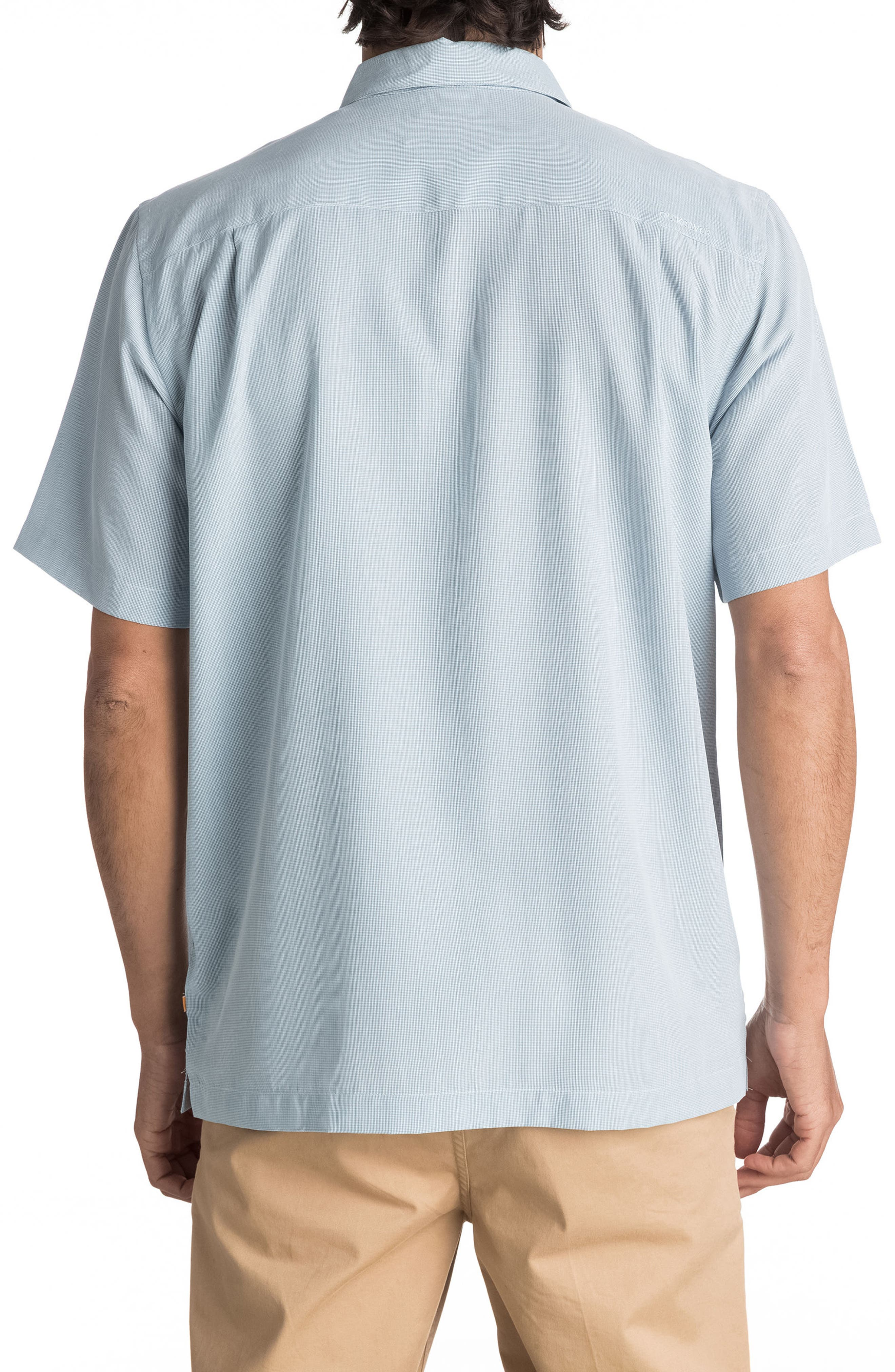 Alternate Image 2  - Quiksilver Waterman Collection 'Cane Island' Regular Fit Short Sleeve Sport Shirt