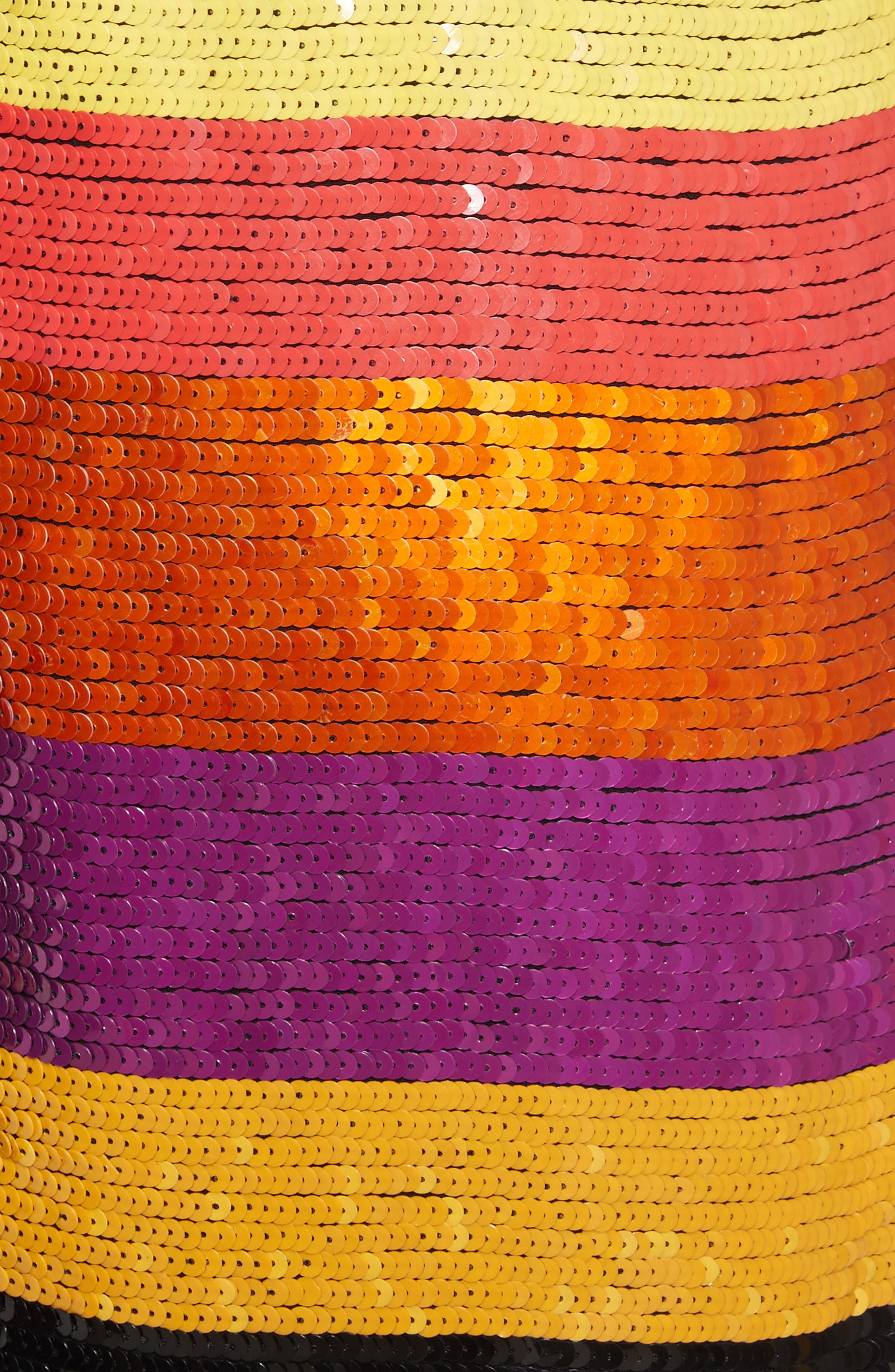Bridget Striped Sequin Slipdress,                             Alternate thumbnail 5, color,                             Multi