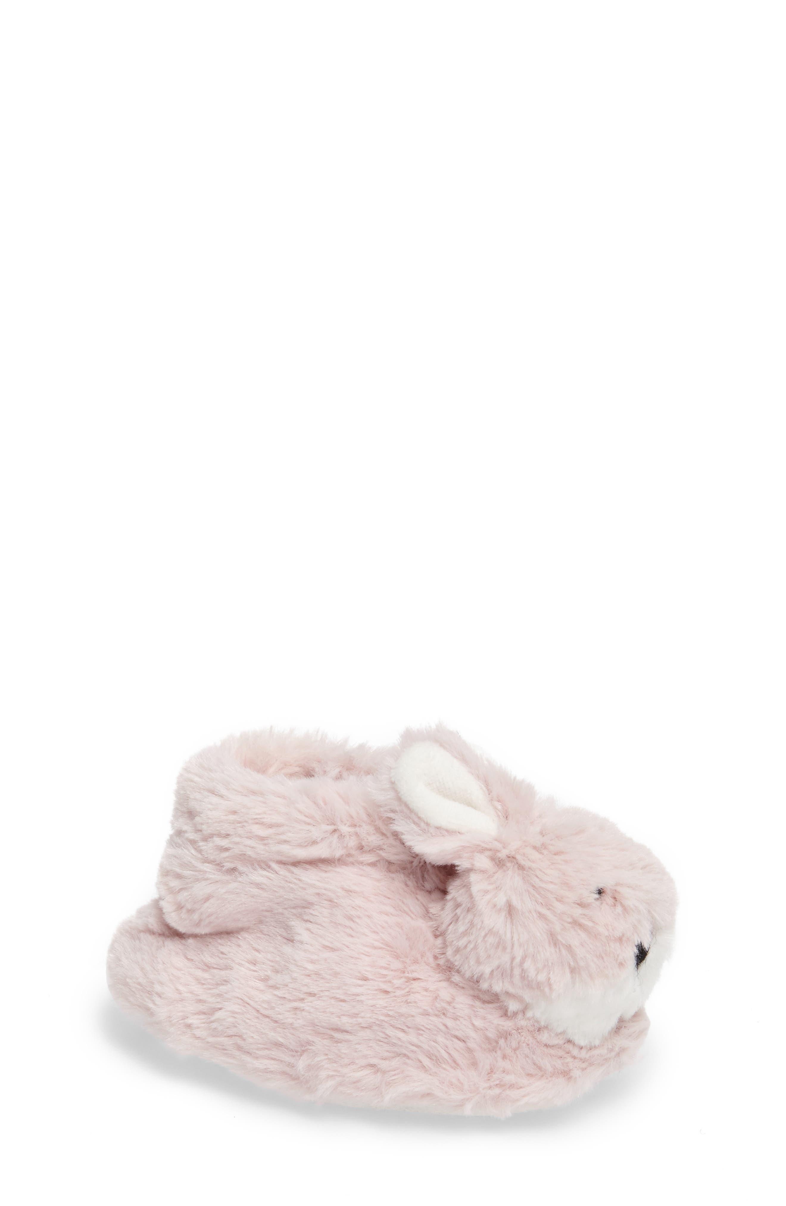 Plush Animal Slipper,                         Main,                         color, Pink Bunny