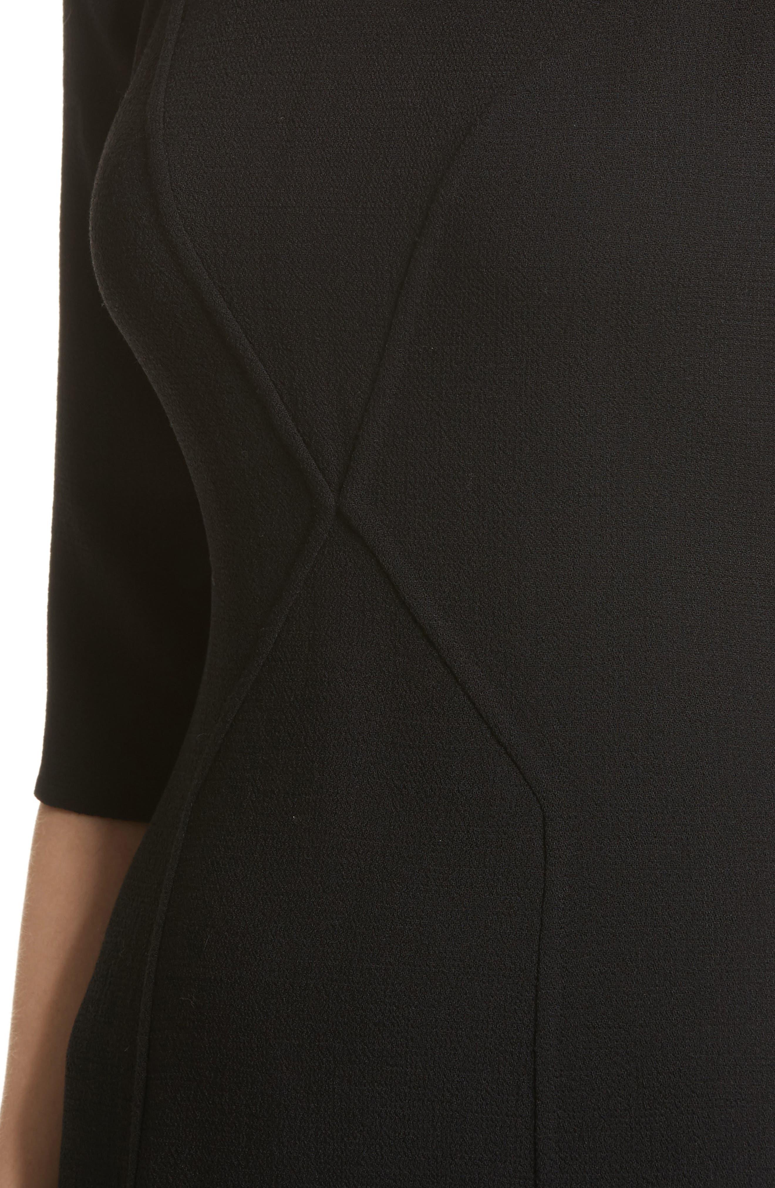 Alternate Image 4  - Carmen Marc Valvo Double Face Wool Crepe Sheath Dress