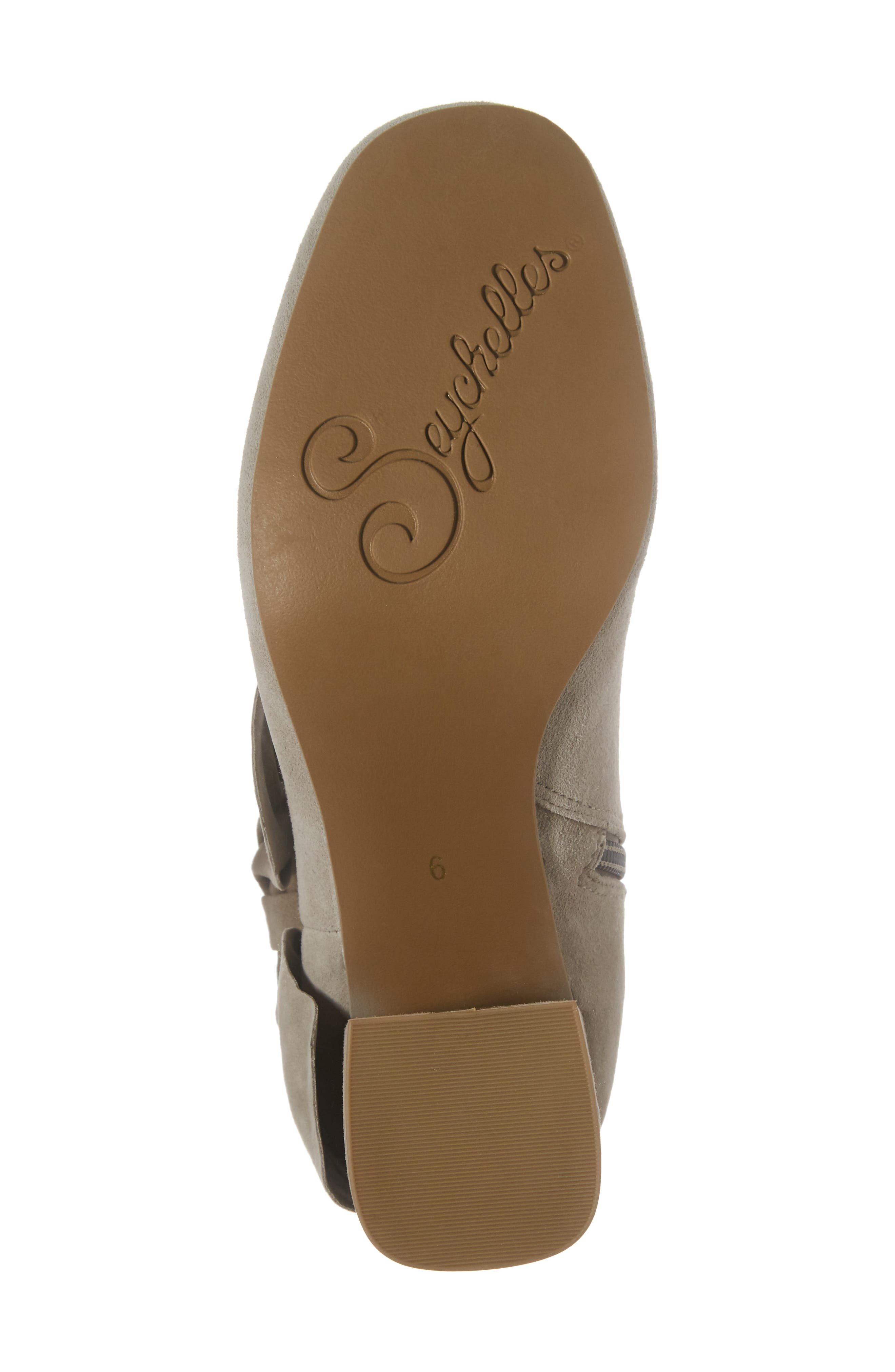 Catwalk Bootie,                             Alternate thumbnail 6, color,                             Taupe Suede