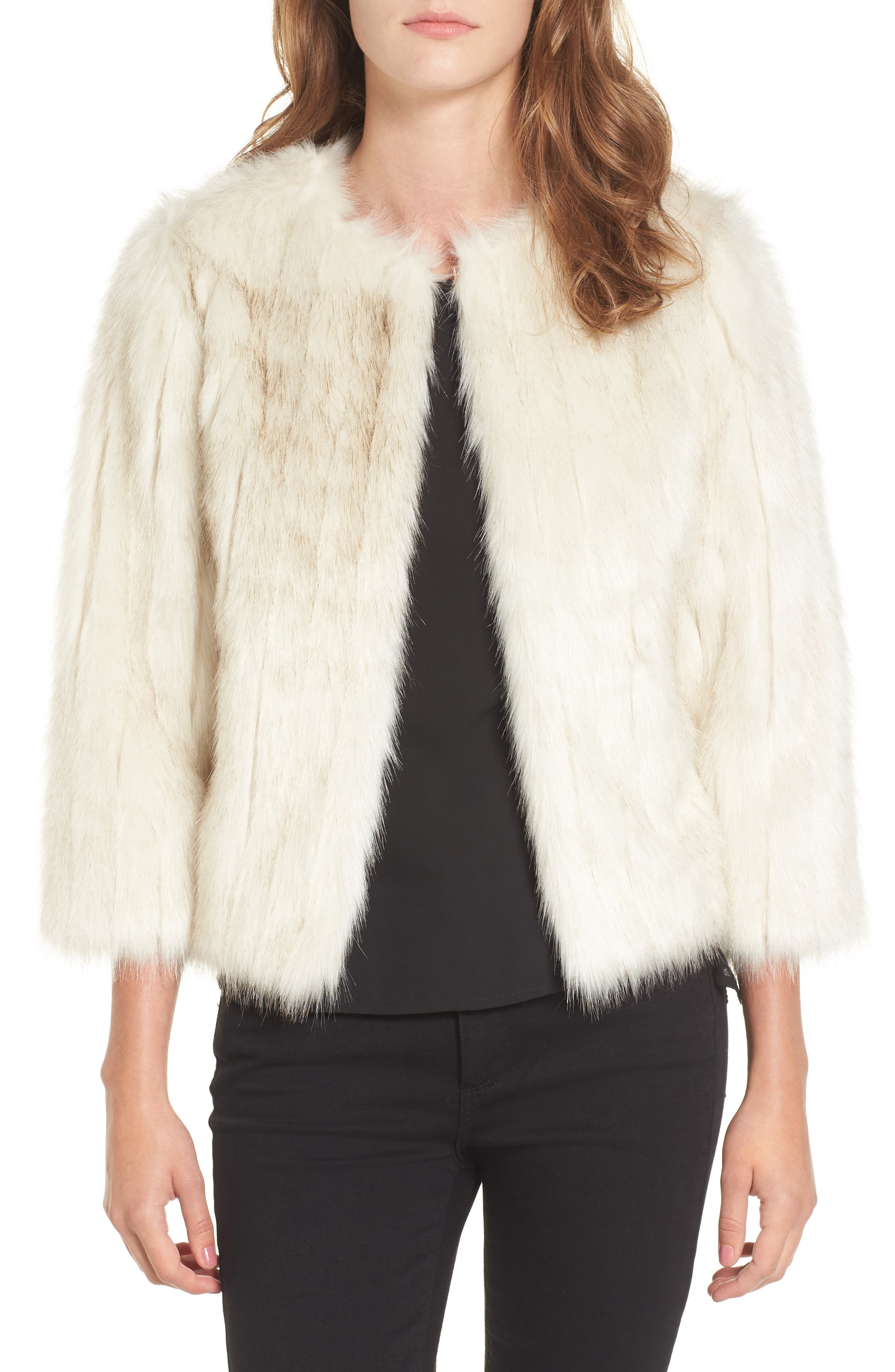 Alternate Image 1 Selected - Ted Baker London Winter Faux Fur Jacket