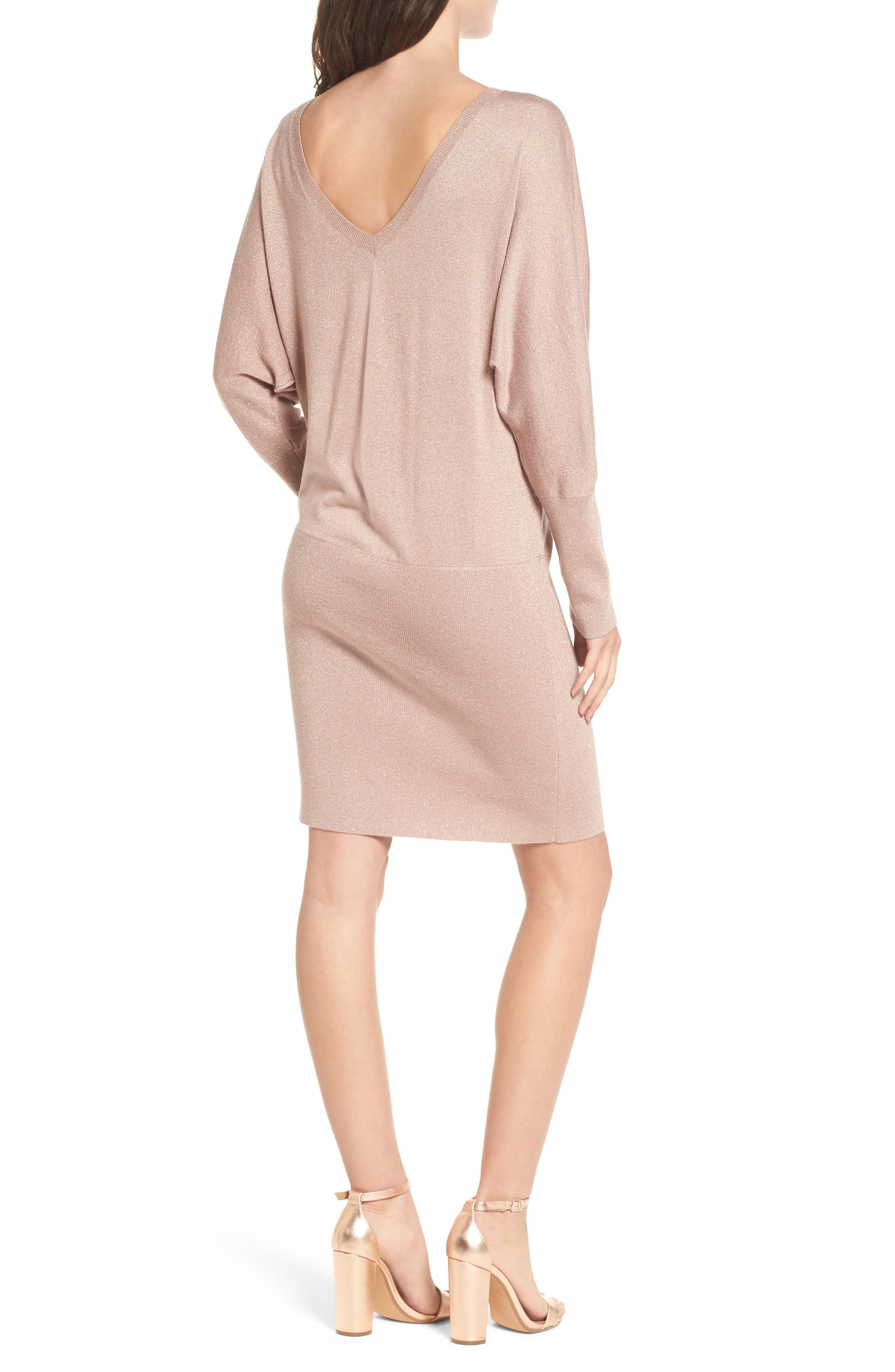 Alternate Image 2  - Leith Shine Dolman Sleeve Sweater Dress