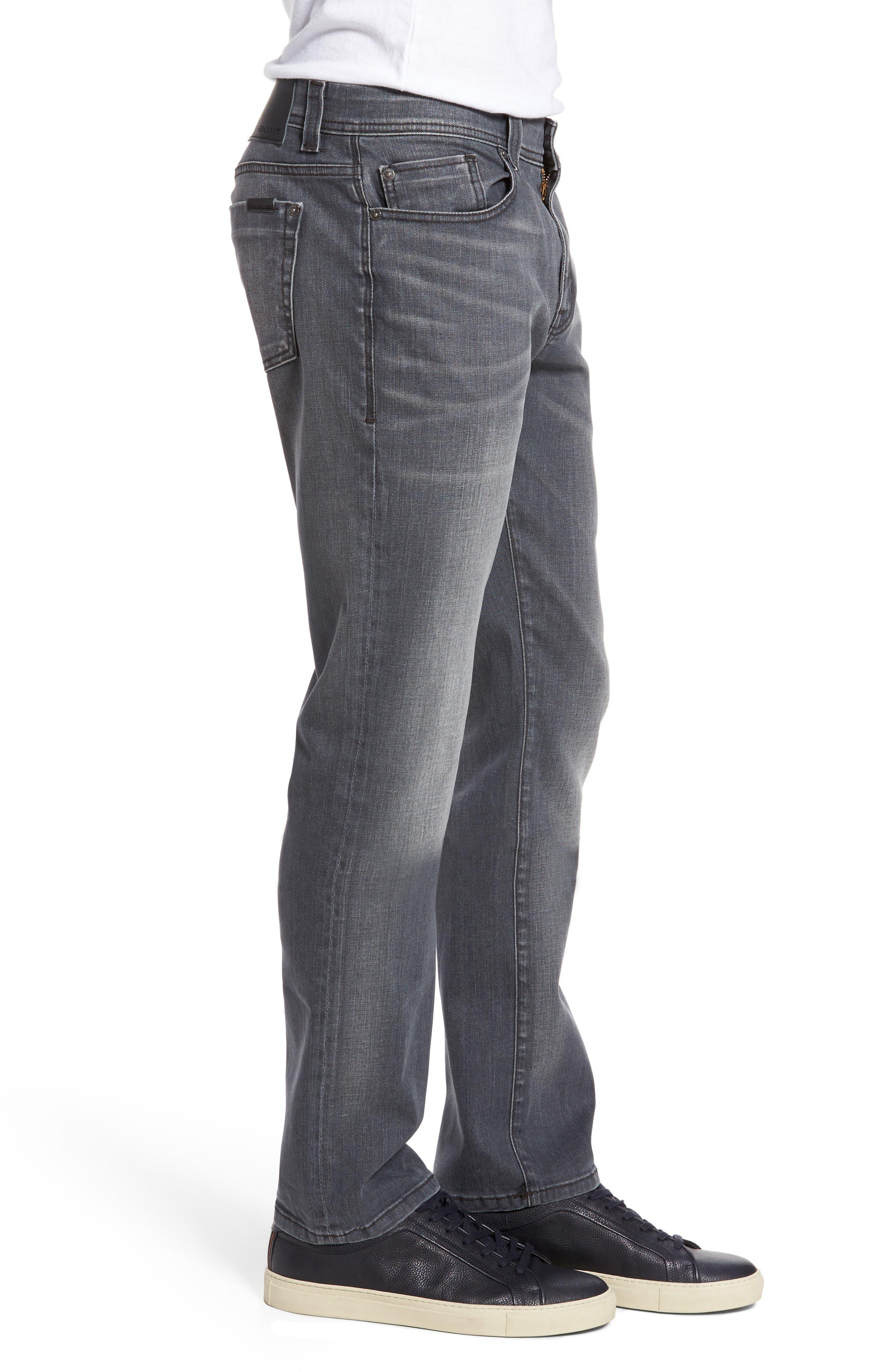 Jimmy Slim Straight Fit Jeans,                             Alternate thumbnail 3, color,                             Steelo Vintage