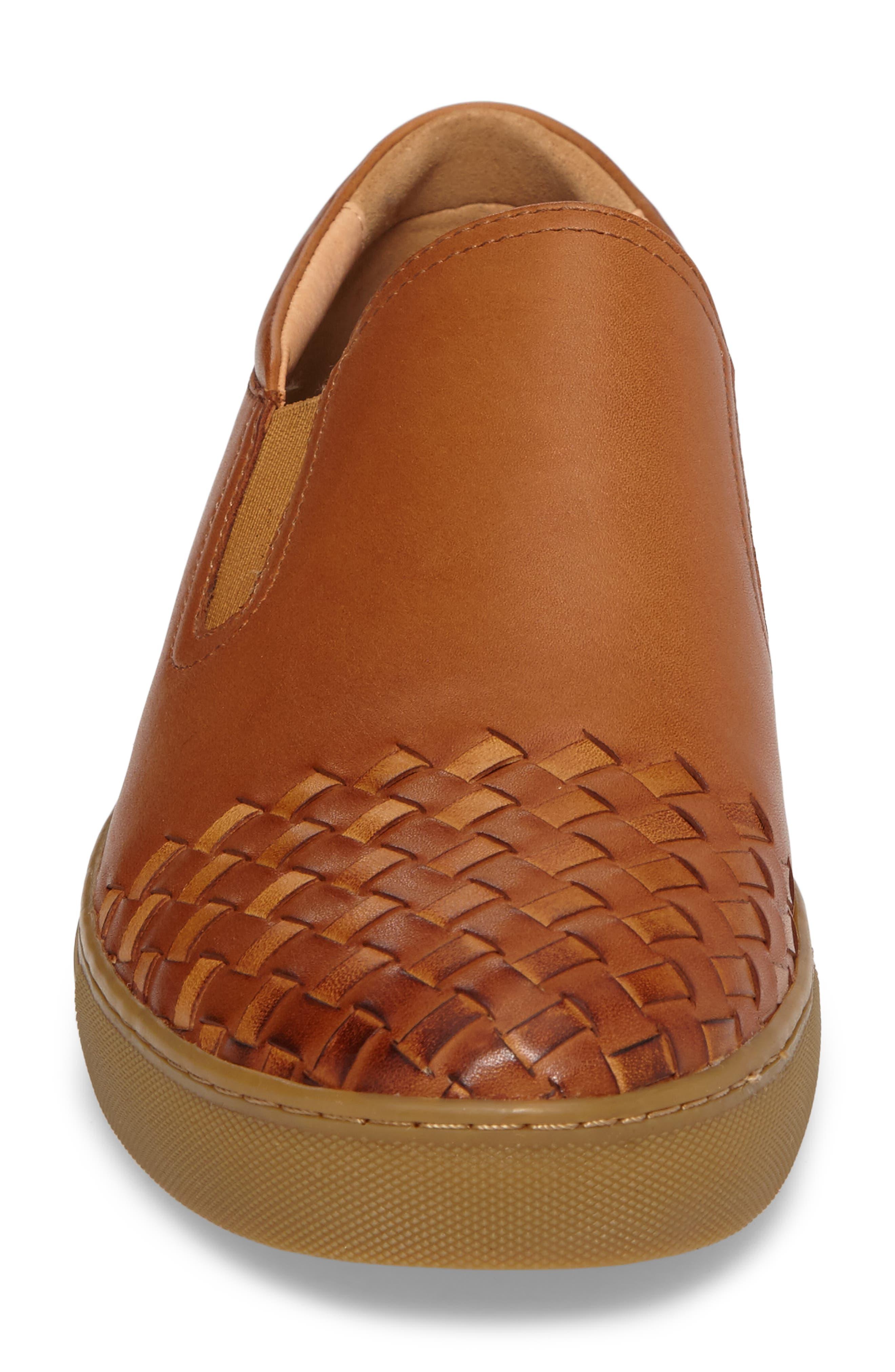 Ader Slip-On,                             Alternate thumbnail 4, color,                             Cognac Leather