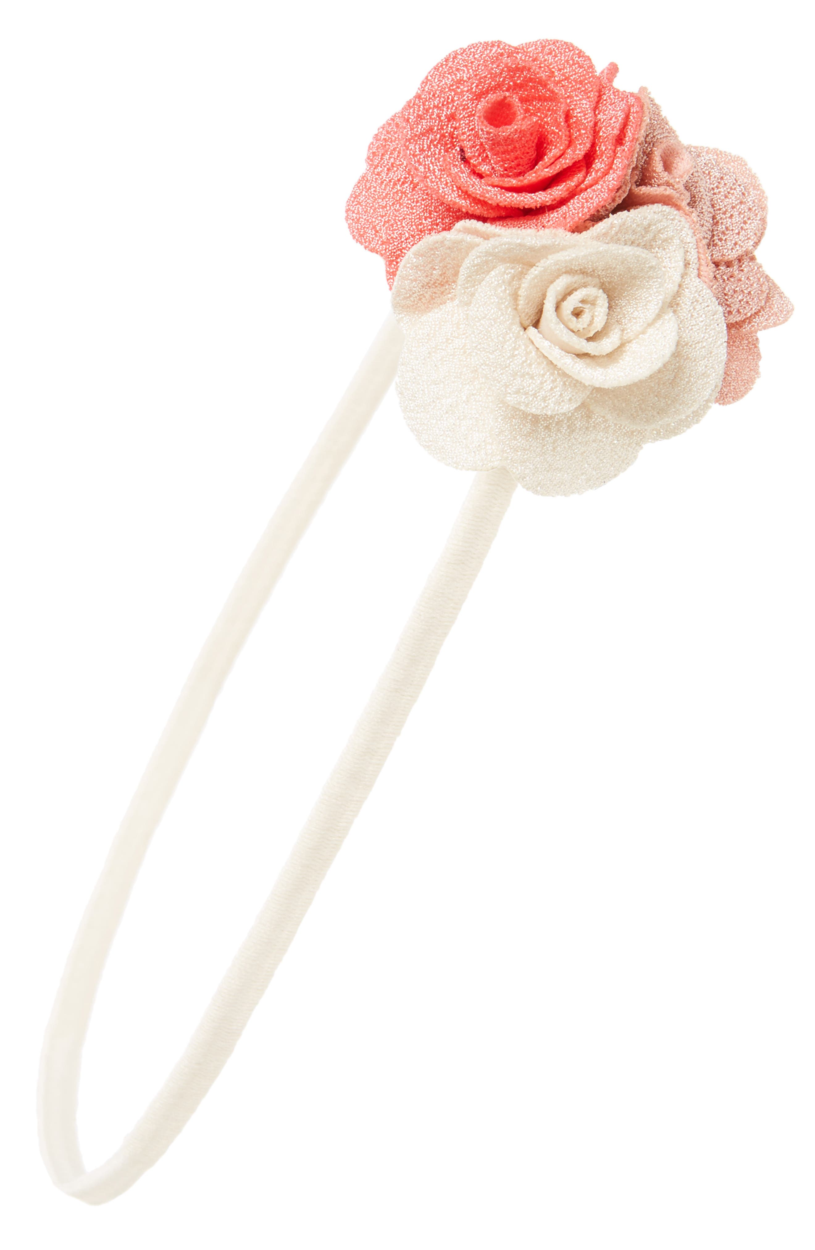 PLH Bows & Laces Flower Headband (Baby Girls)
