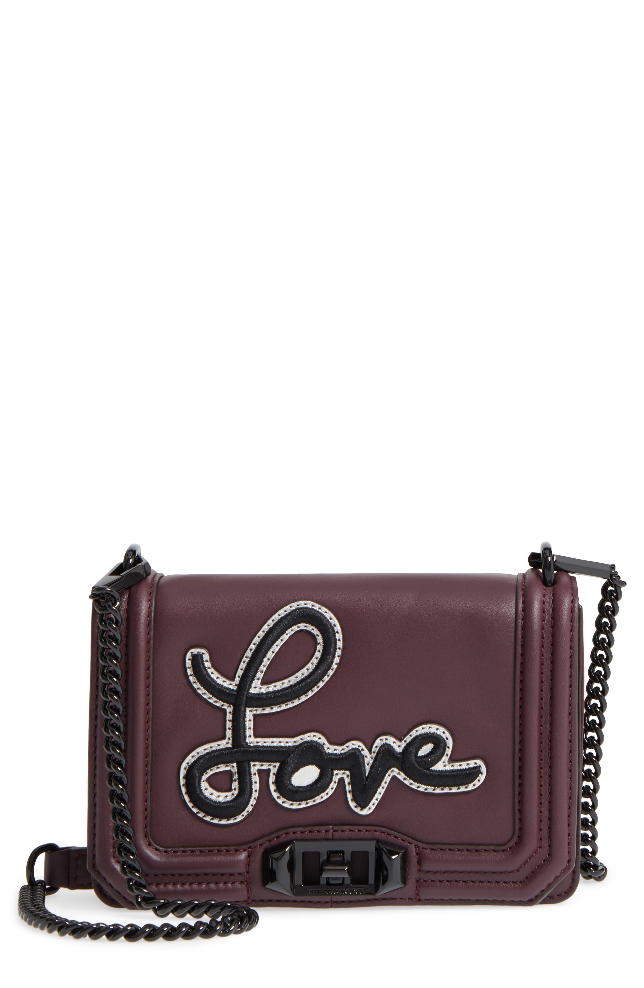 Rebecca Minkoff Small Love Patch Crossbody Bag