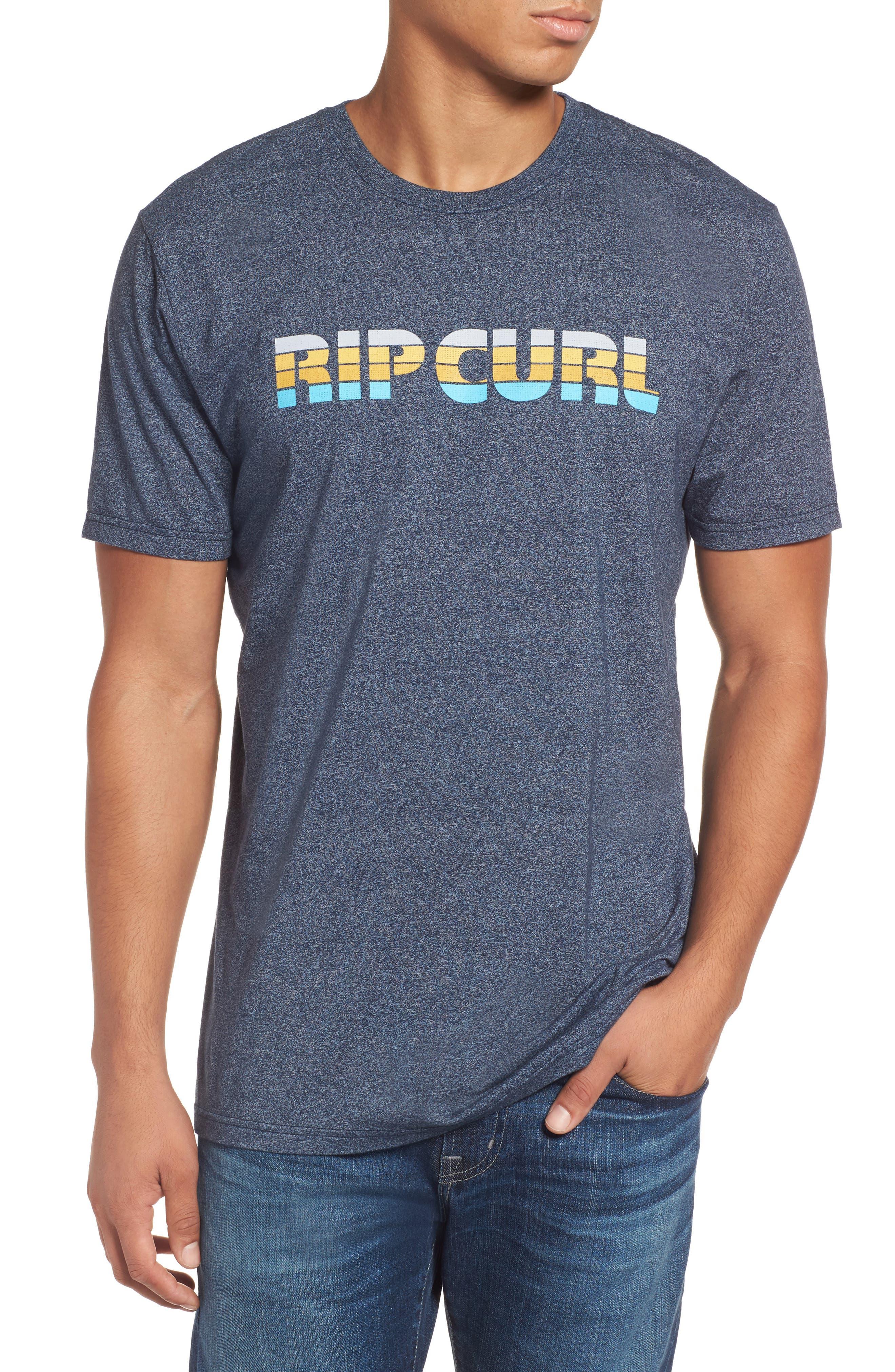 Pumped Mock Twist Graphic T-Shirt,                         Main,                         color, Navy