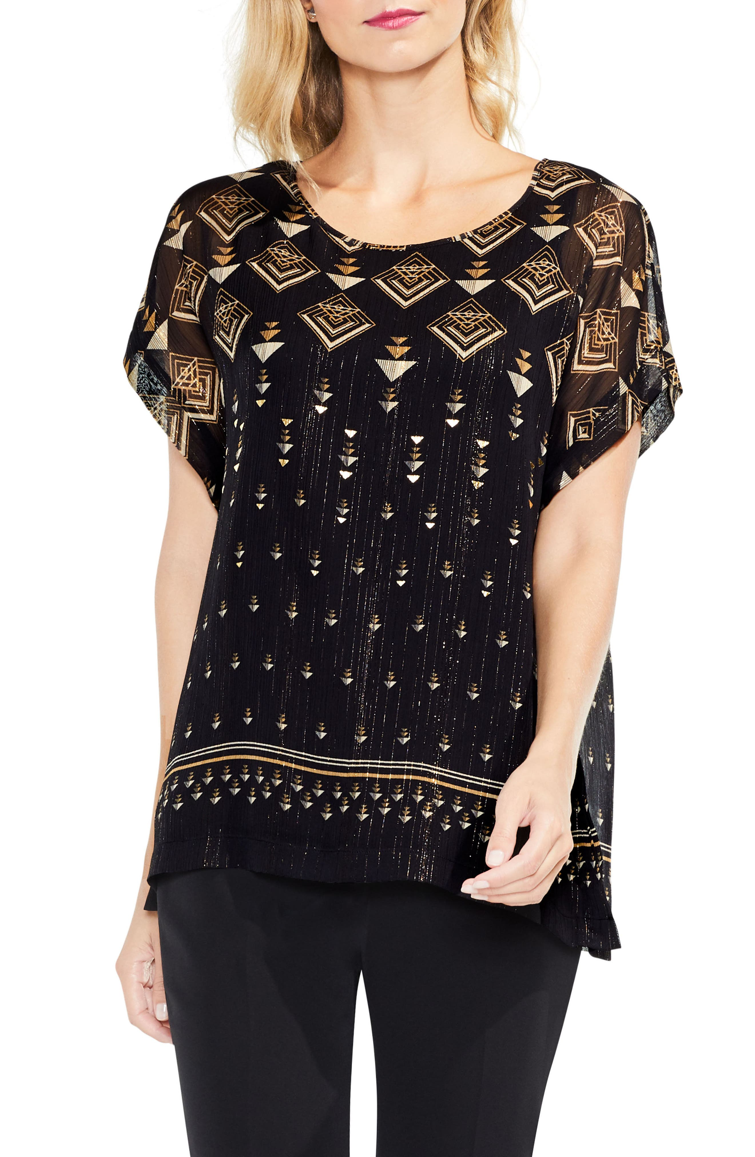 Main Image - Vince Camuto Deco Highlights Top