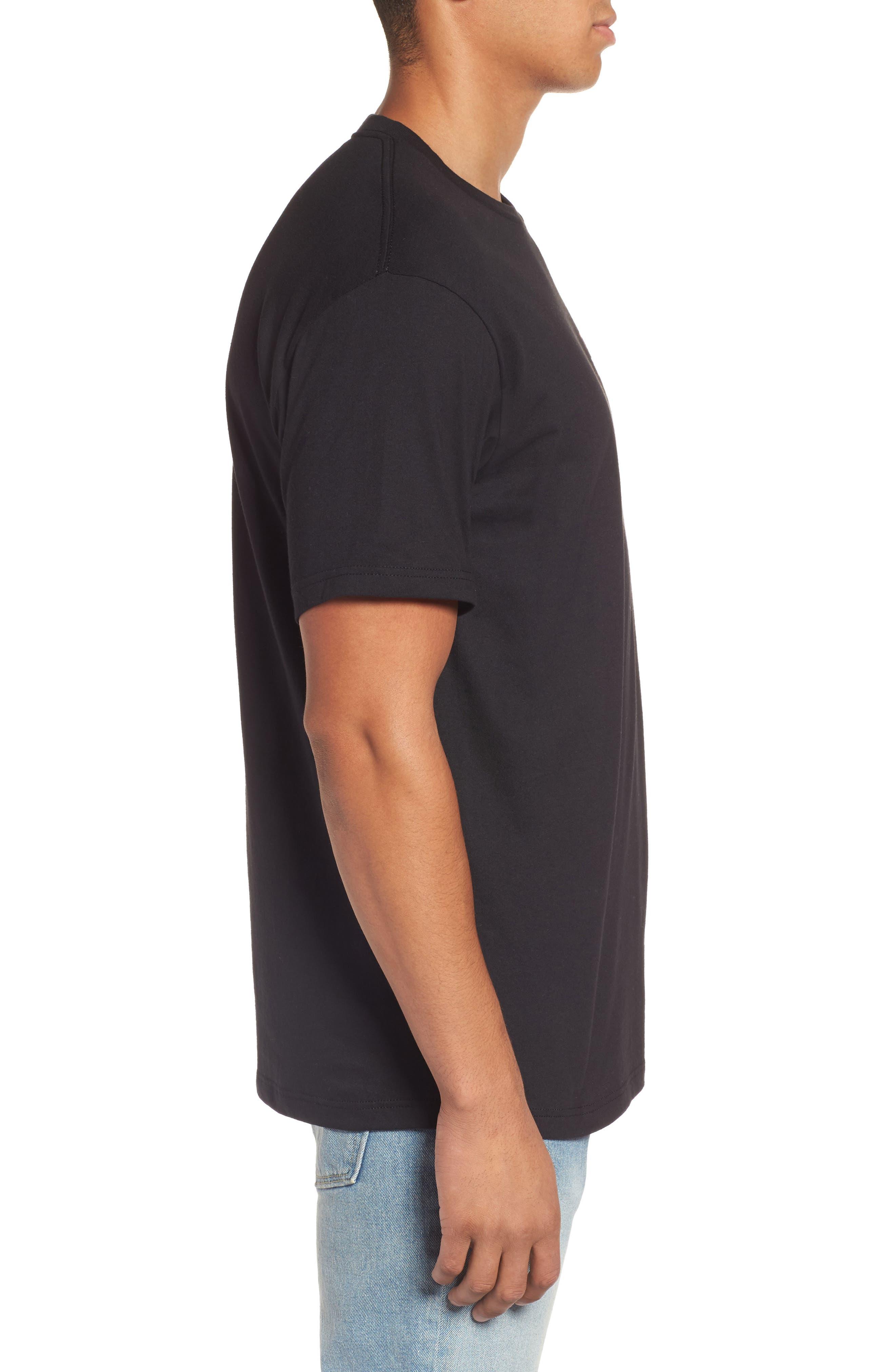 The Edge Premium Graphic T-Shirt,                             Alternate thumbnail 3, color,                             Black
