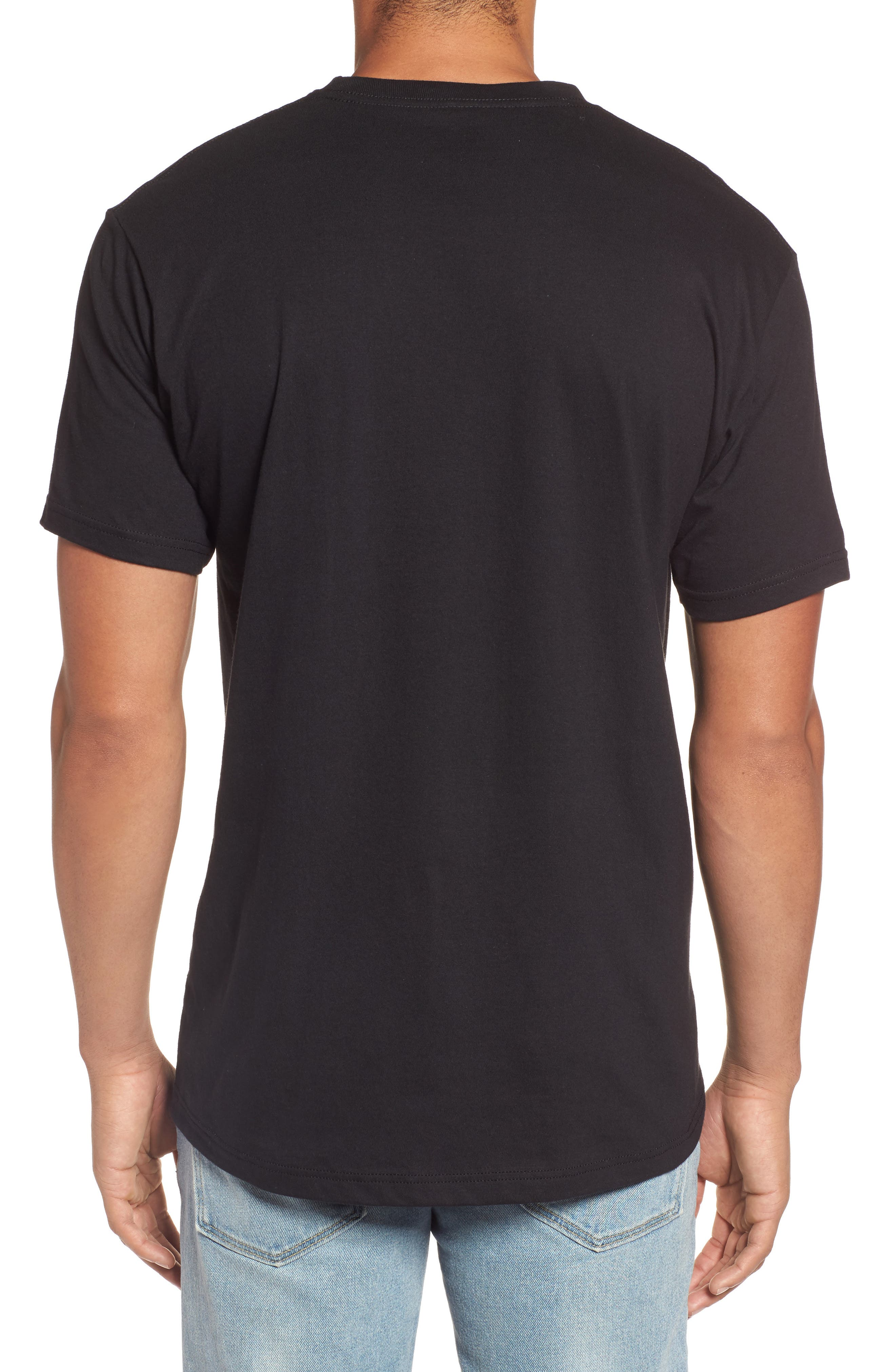 The Edge Premium Graphic T-Shirt,                             Alternate thumbnail 2, color,                             Black