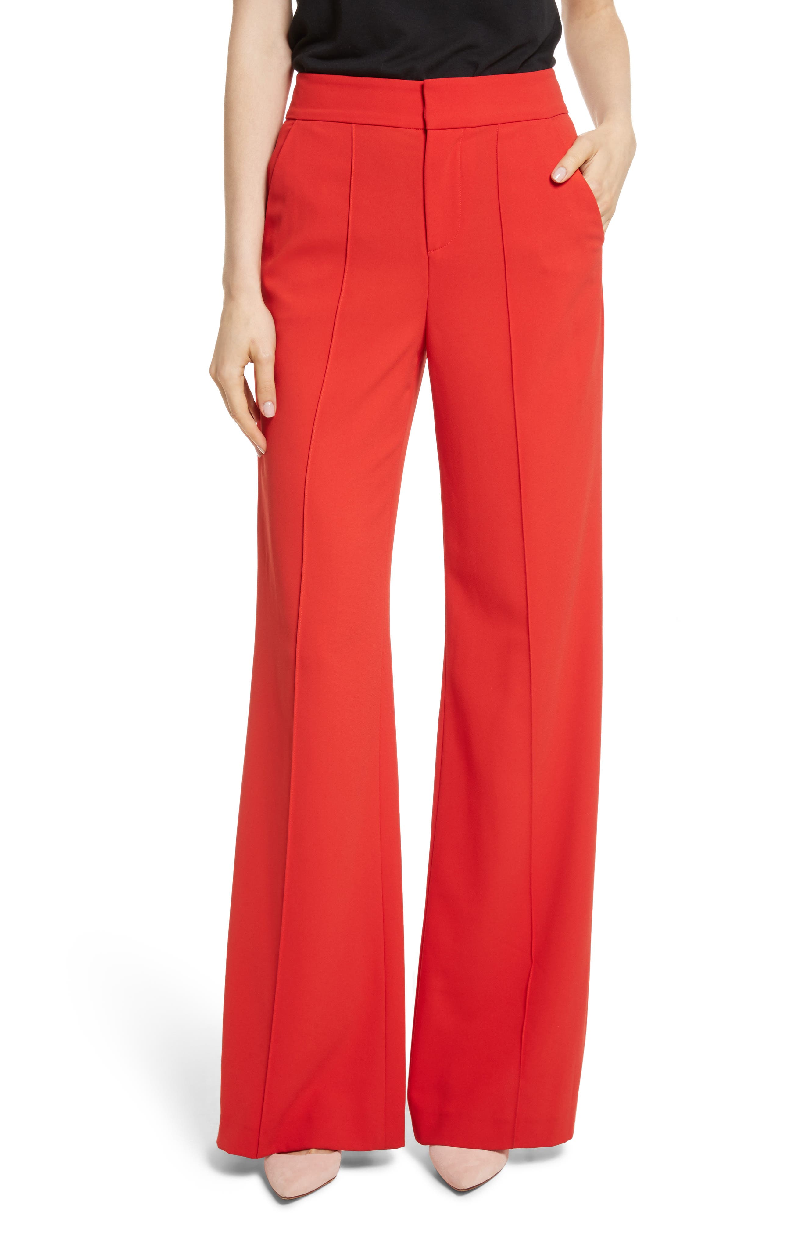 Alice + Olivia Dylan High-Waist Wide Leg Pants