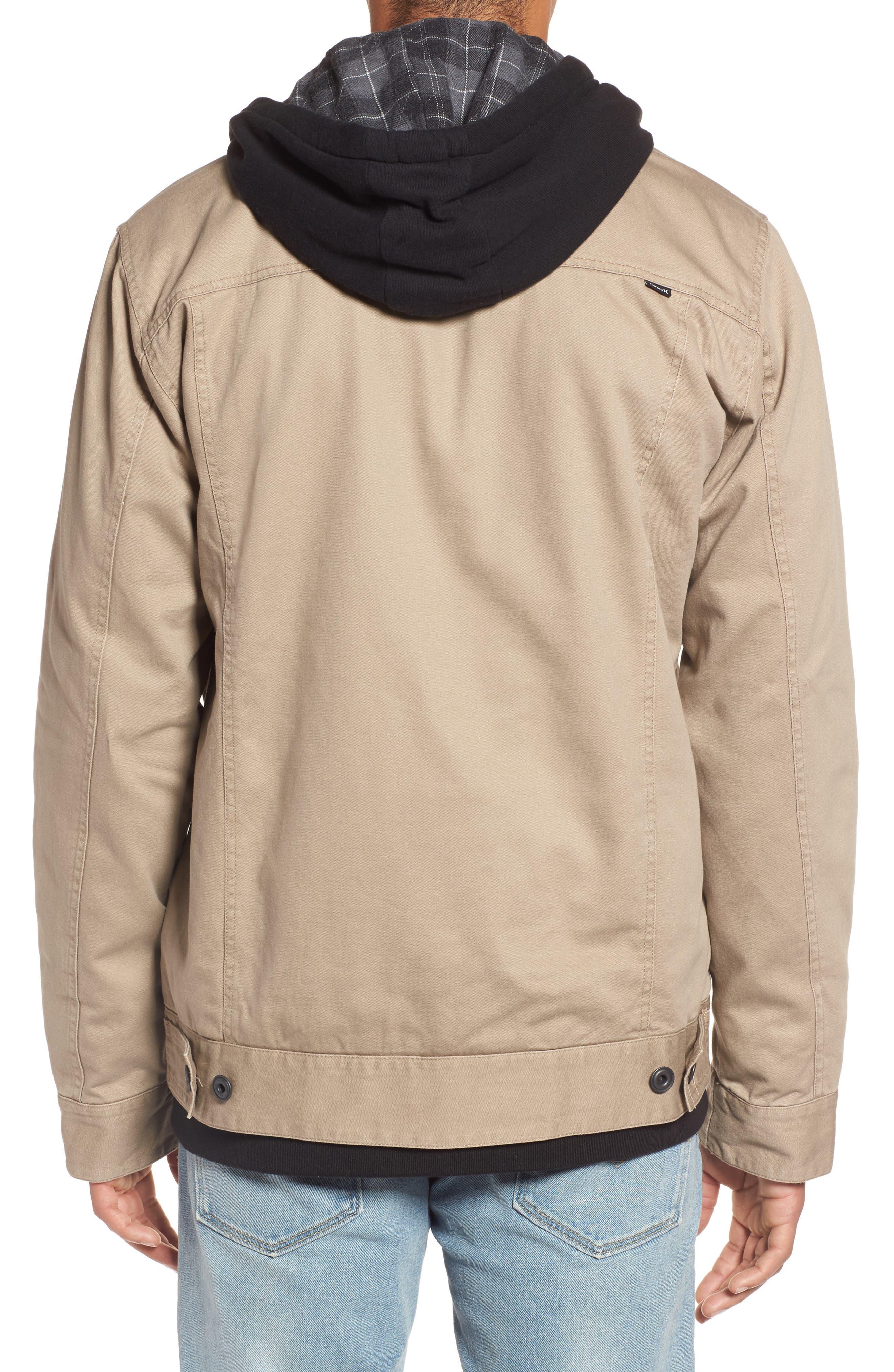 Mac Trucker 3.0 Hooded Jacket,                             Alternate thumbnail 2, color,                             Khaki
