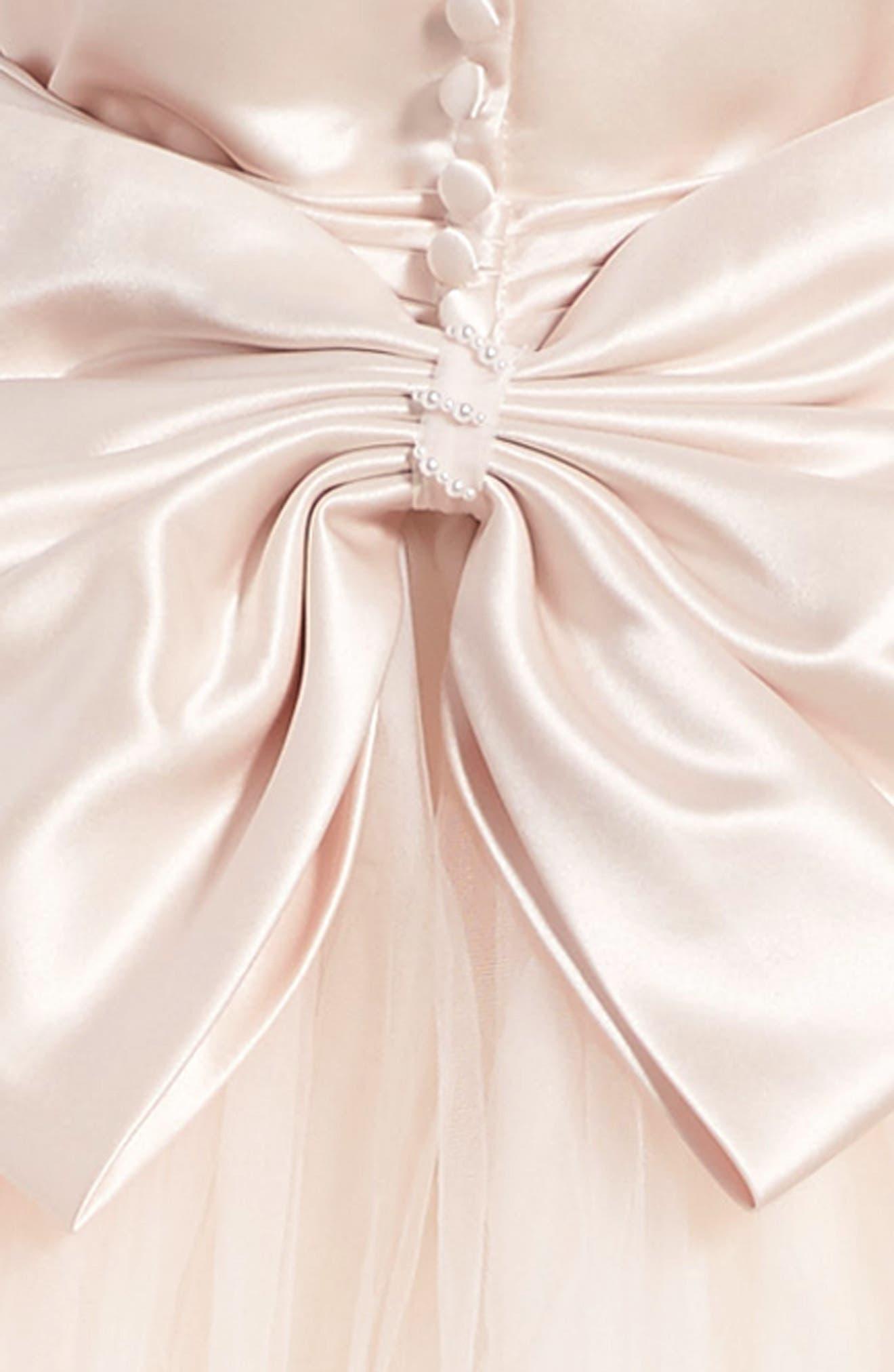 Alternate Image 3  - Joan Calabrese for Mon Cheri Tulle Dress (Little Girls & Big Girls)