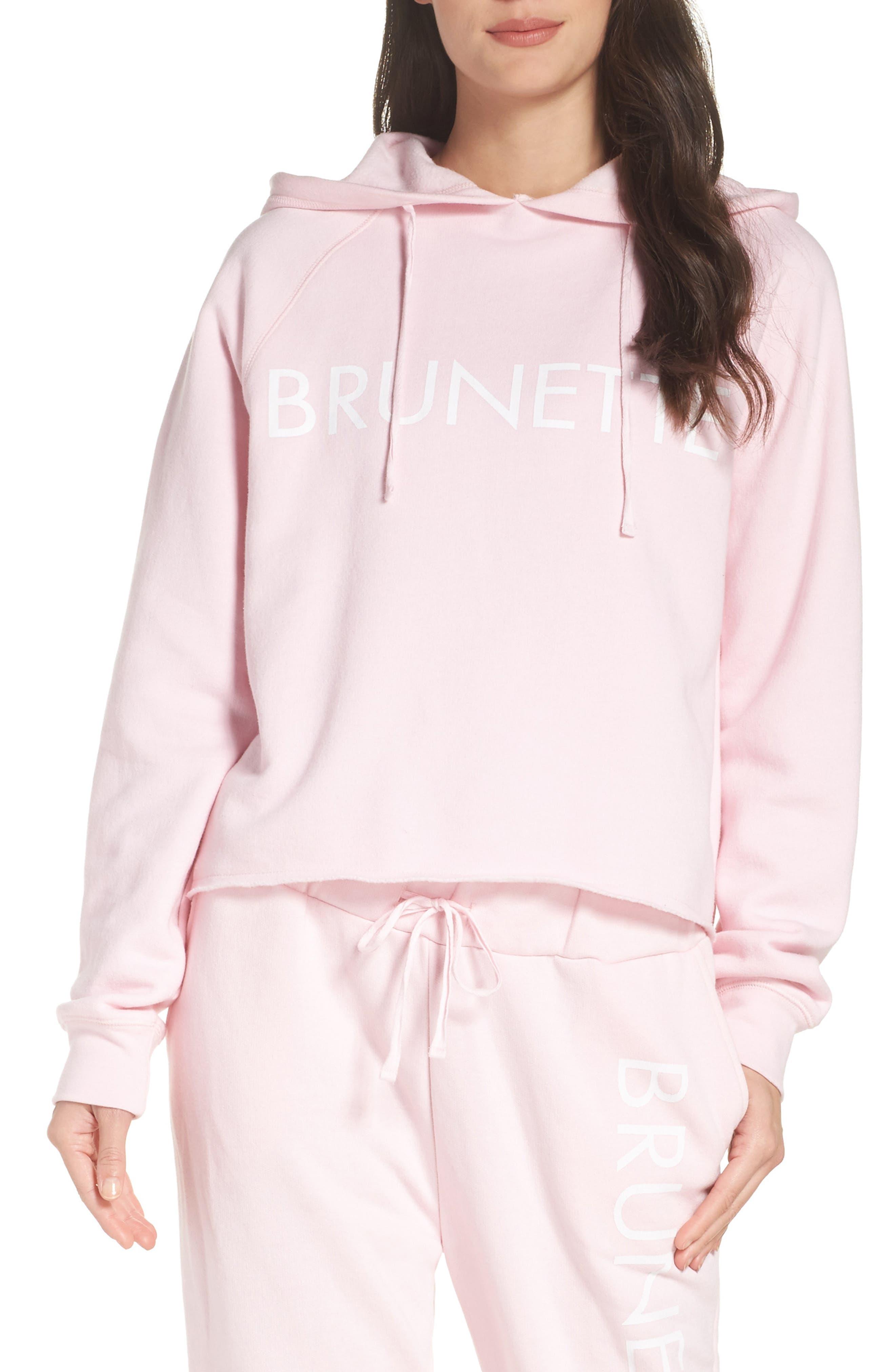 Middle Sister - Brunette Hoodie,                         Main,                         color, Pink
