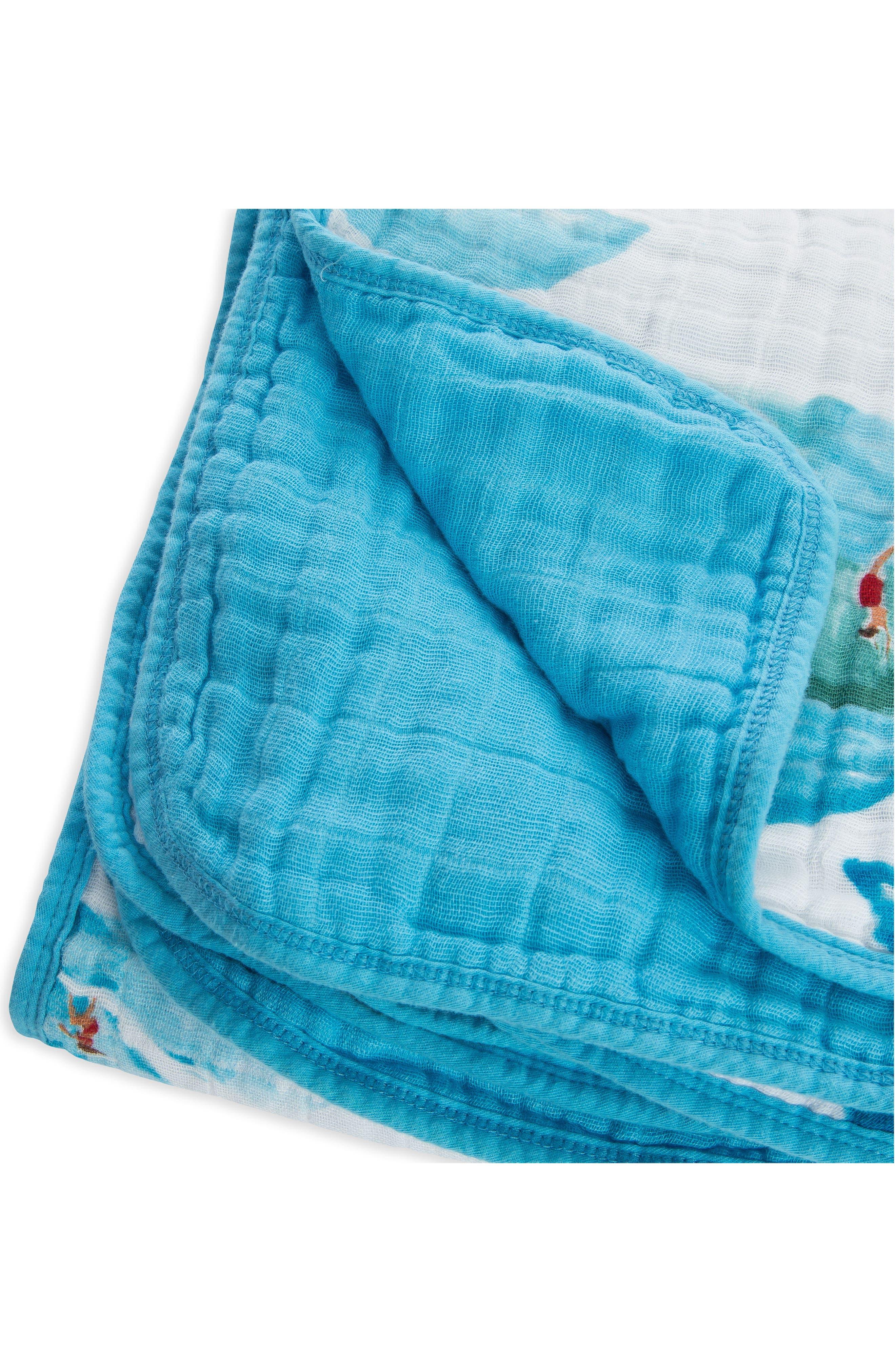 Cotton Muslin Quilt,                             Alternate thumbnail 2, color,                             Surf