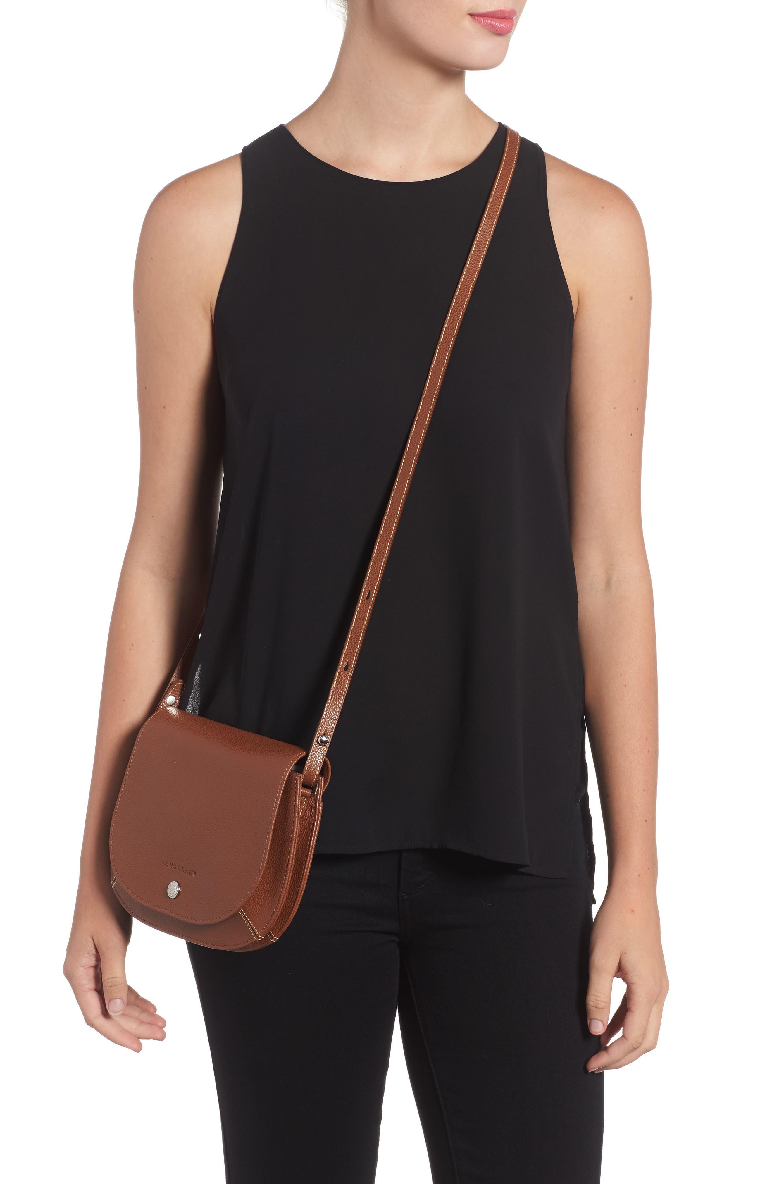 Alternate Image 2  - Longchamp Small Le Foulonne Leather Crossbody Bag