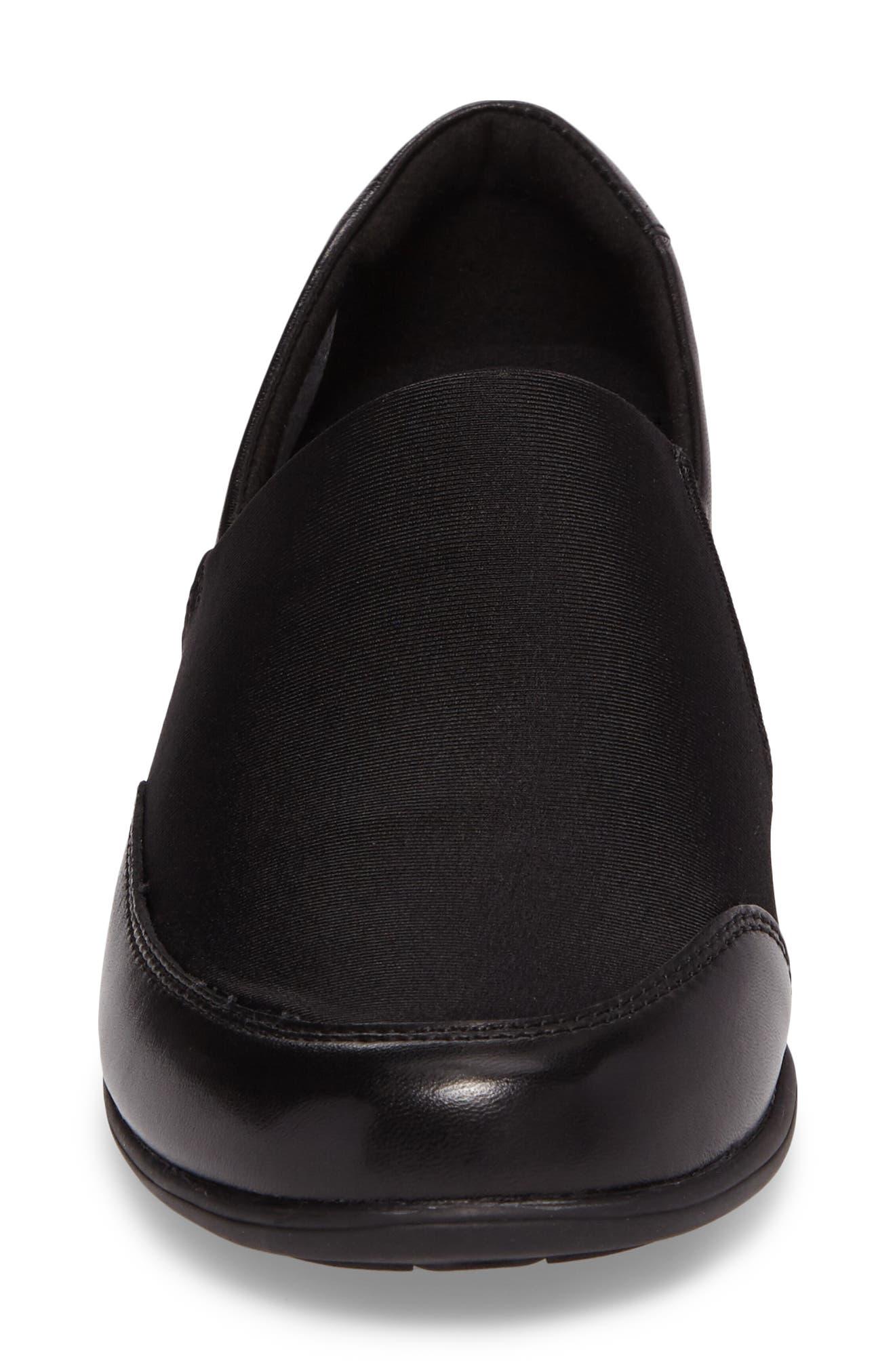 Abbey Slip-On,                             Alternate thumbnail 3, color,                             Black Leather