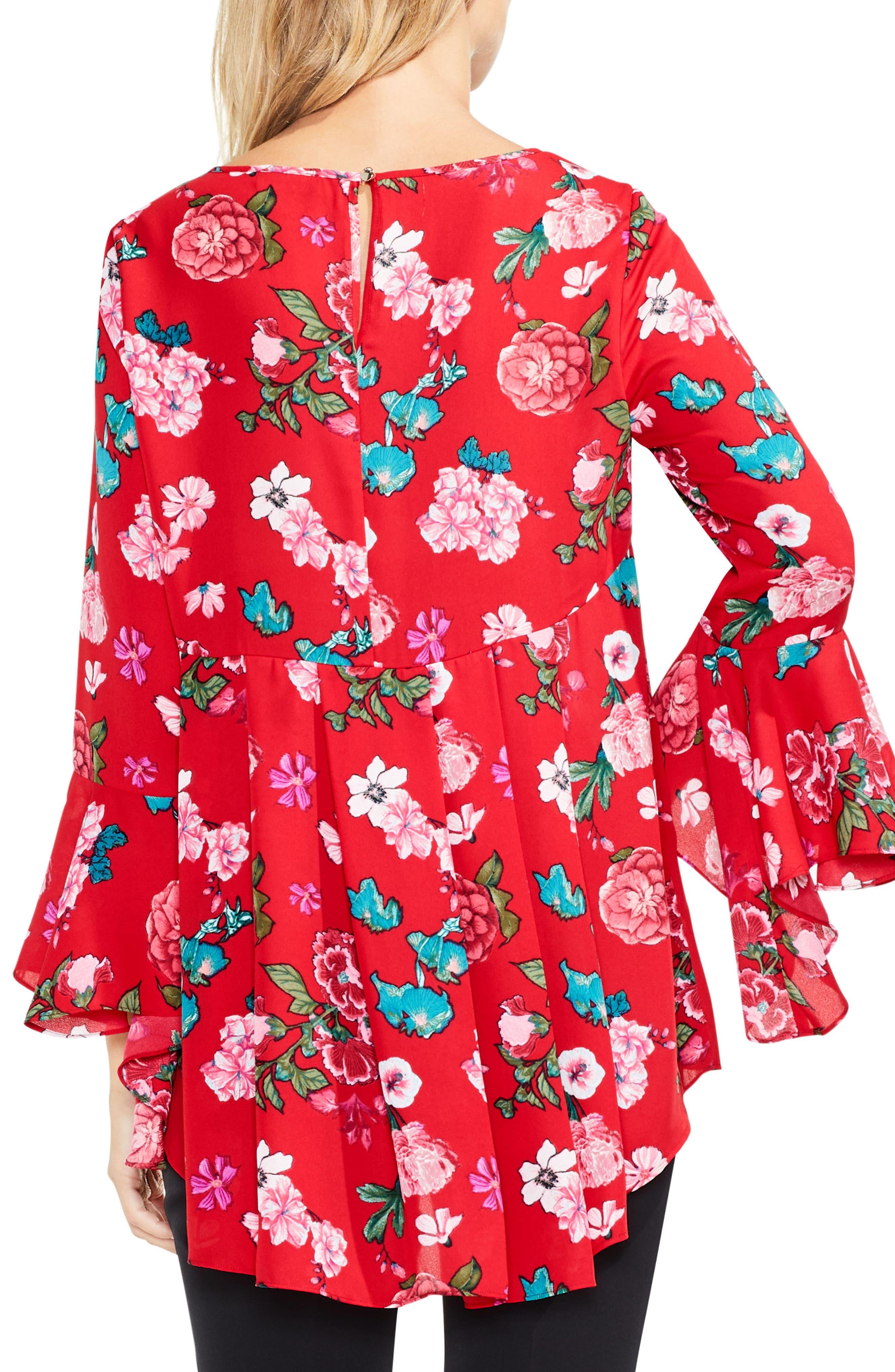 Alternate Image 2  - Vince Camuto Floral Heirloom Bell Sleeve Top