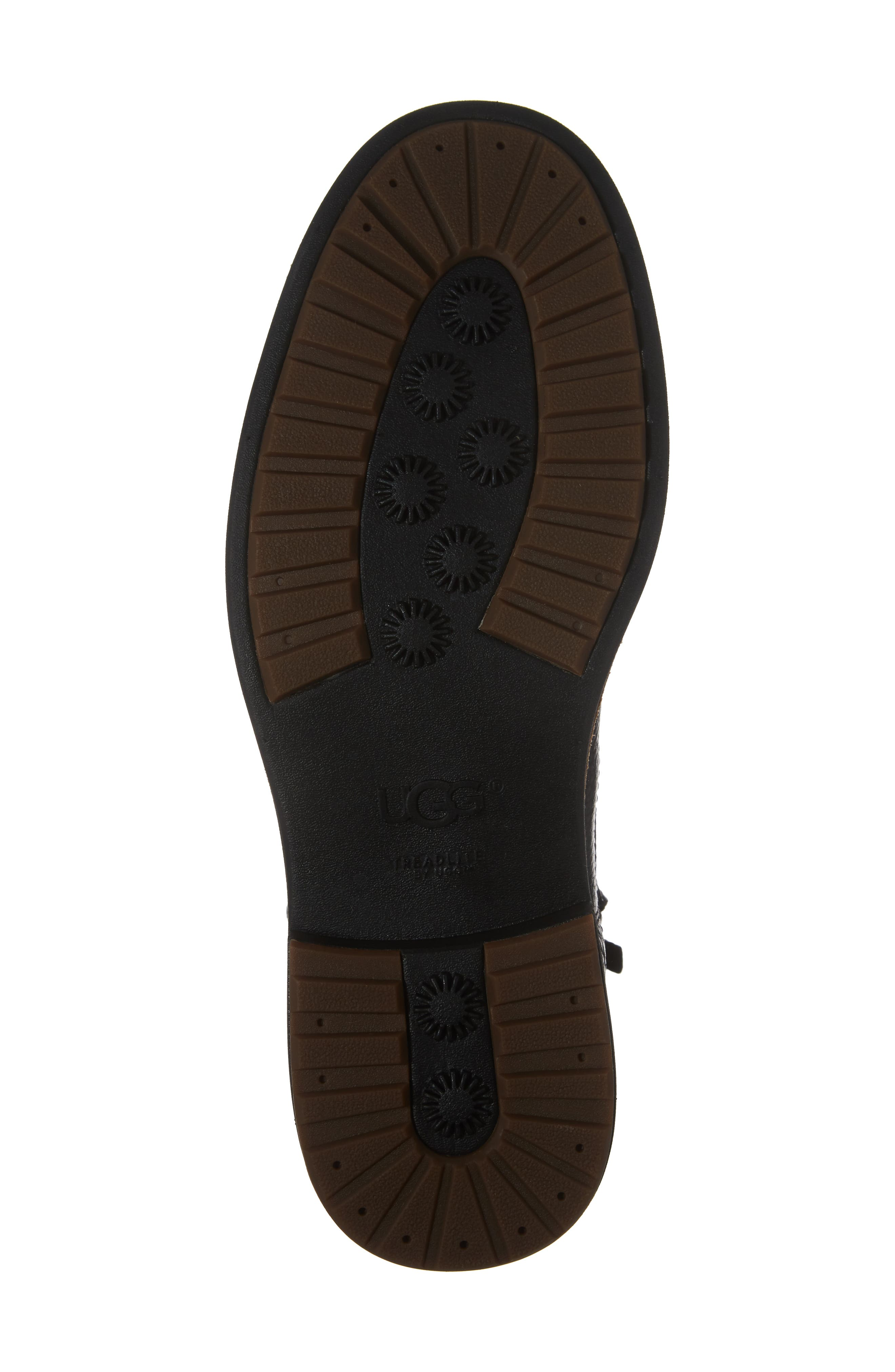 Jaren Zip Boot with Genuine Shearling,                             Alternate thumbnail 6, color,                             Black