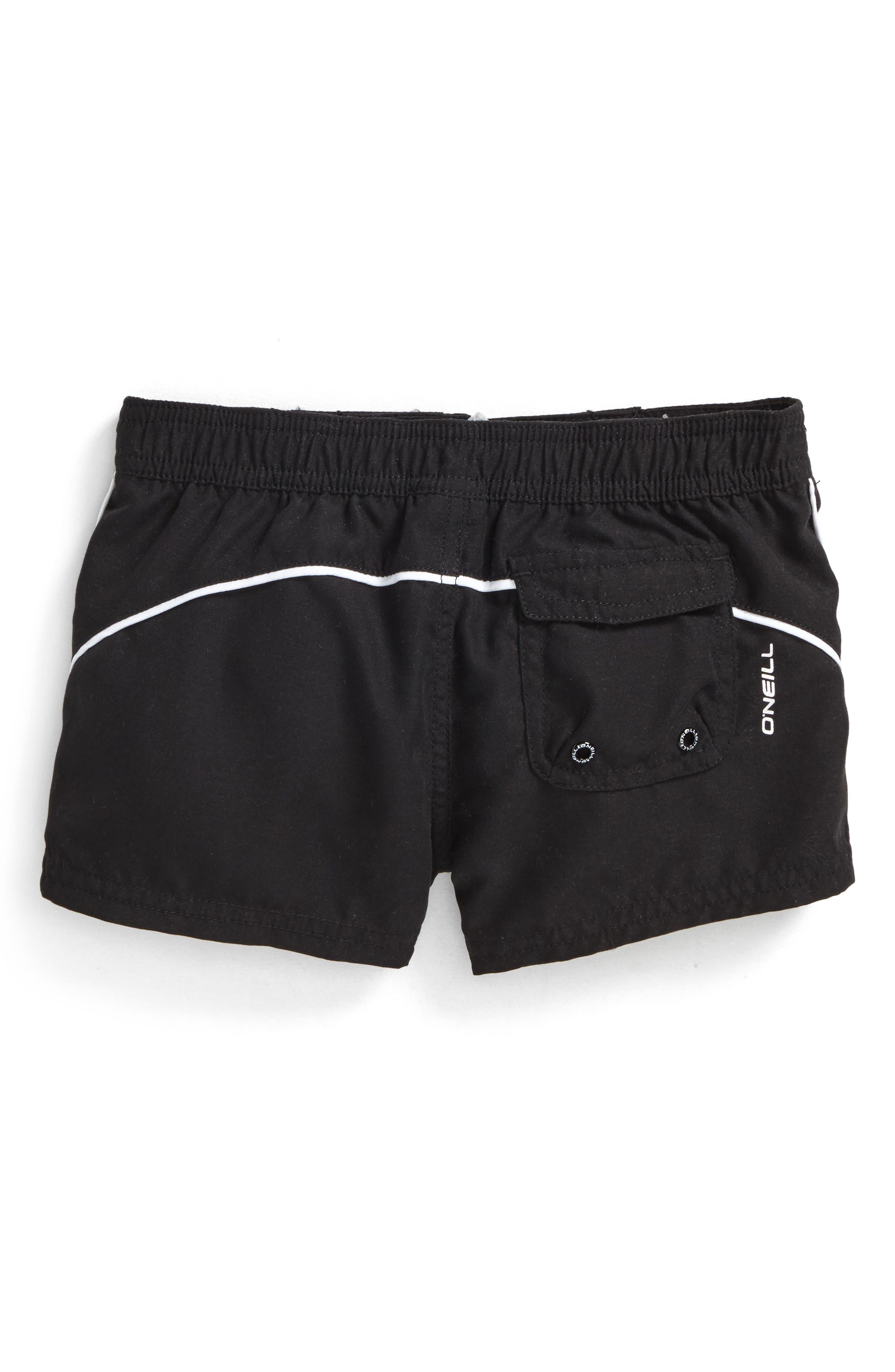 Salt Water Board Shorts,                             Alternate thumbnail 3, color,                             Black - Blk
